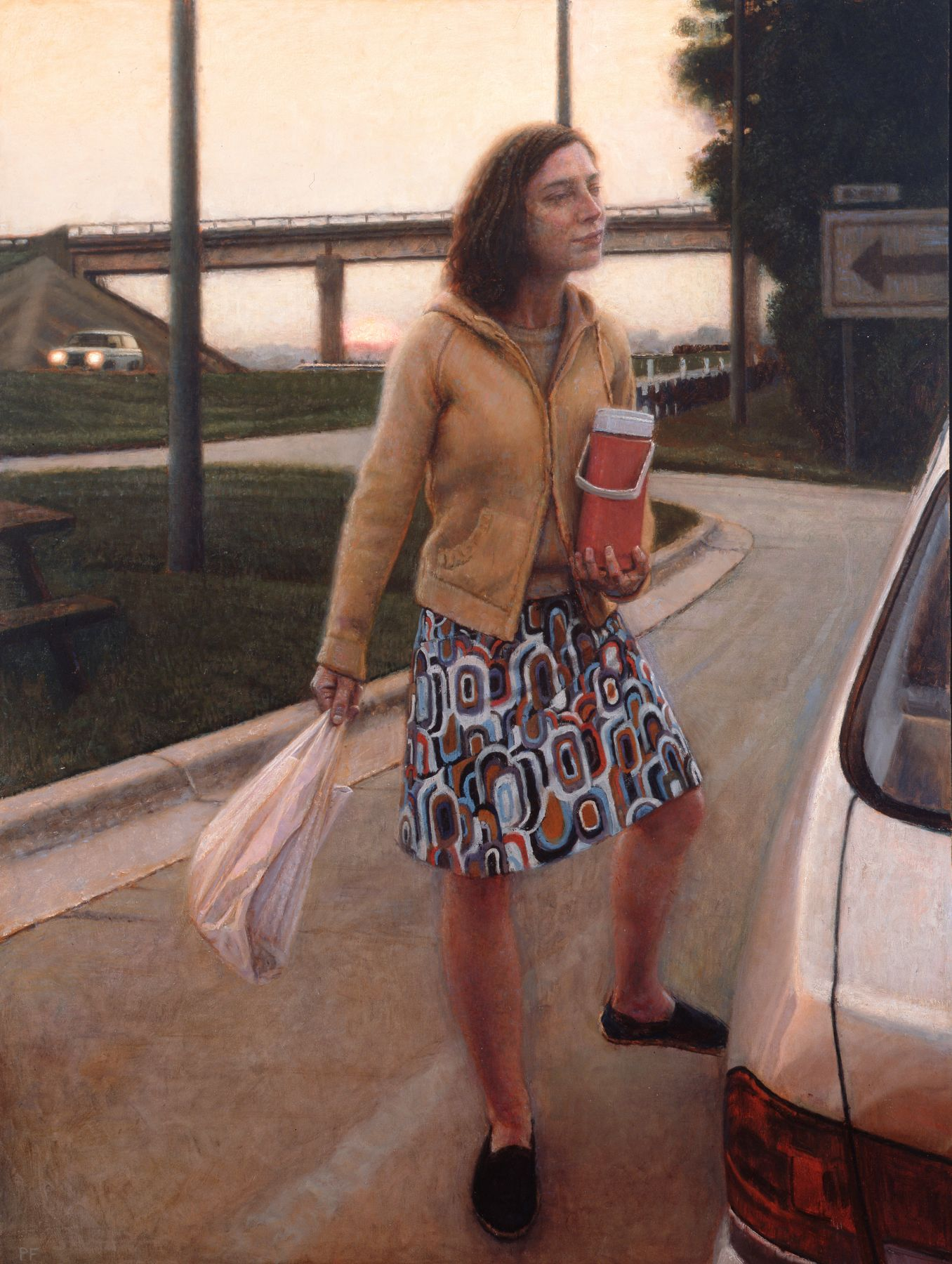 Paul Fenniak, Lay-By (SOLD), 2007, oil on canvas, 48 x 36 inches