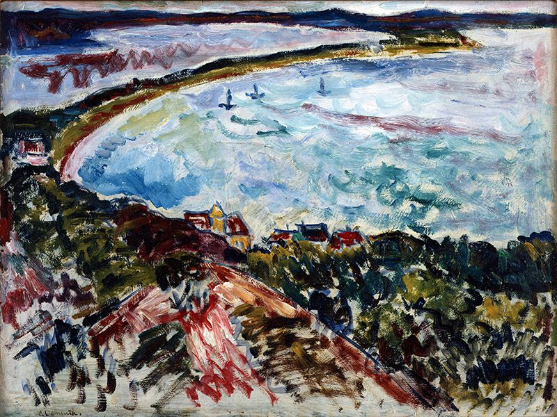 Charles Demuth, The Bay, c. 1912, oil on panel, 12 1/2 x 16 1/2 inches