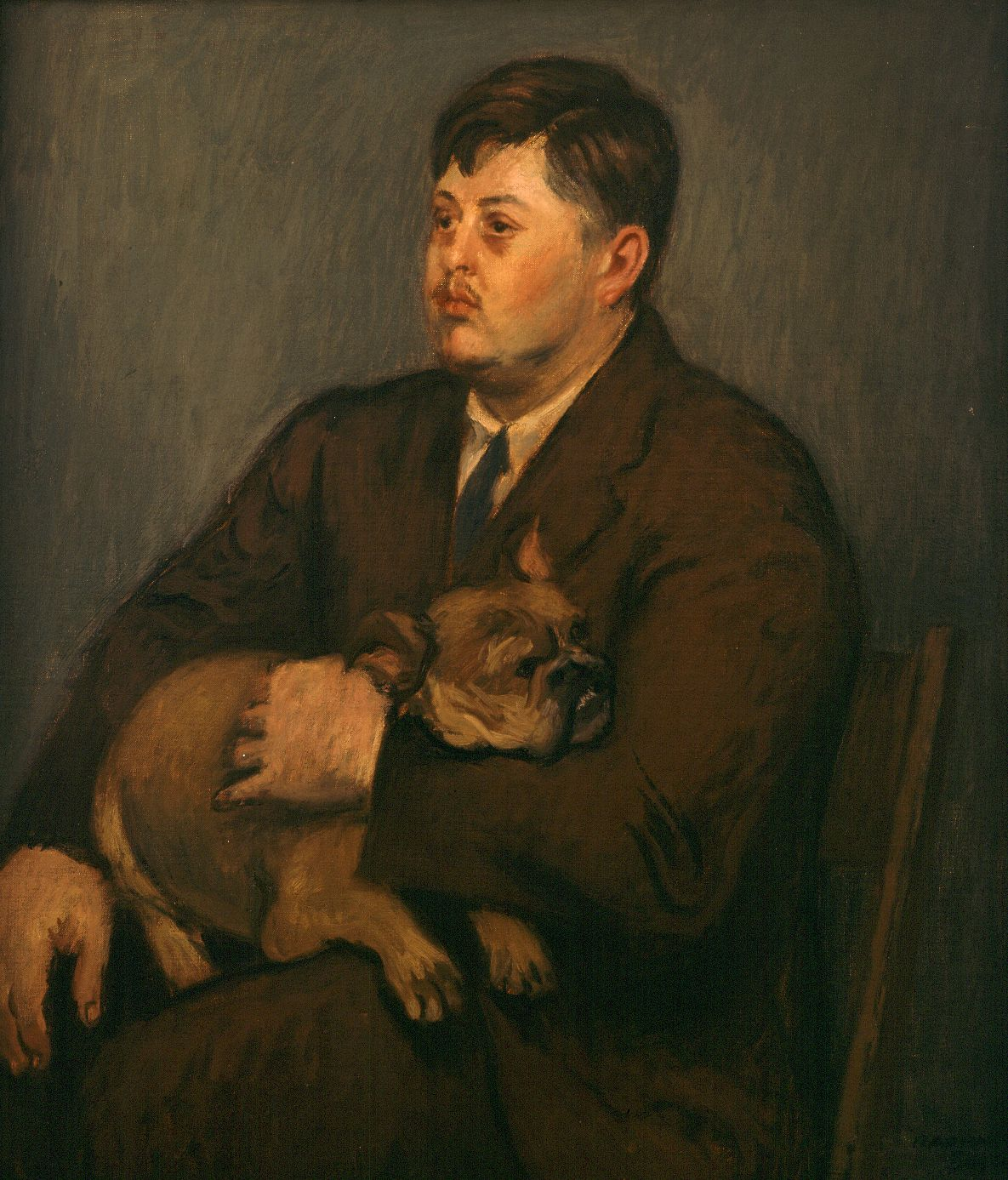 Raphael Soyer, Portrait of Philip Evergood, 1942, oil on canvas, 26 x 22 inches