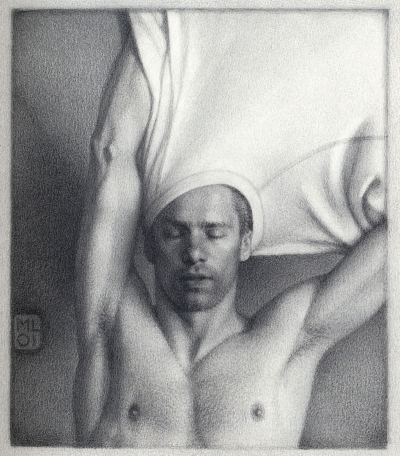 Michael Leonard, Taking Off (SOLD), 2002, graphite pencil on paper, 8 3/8 x 7 1/4 inches