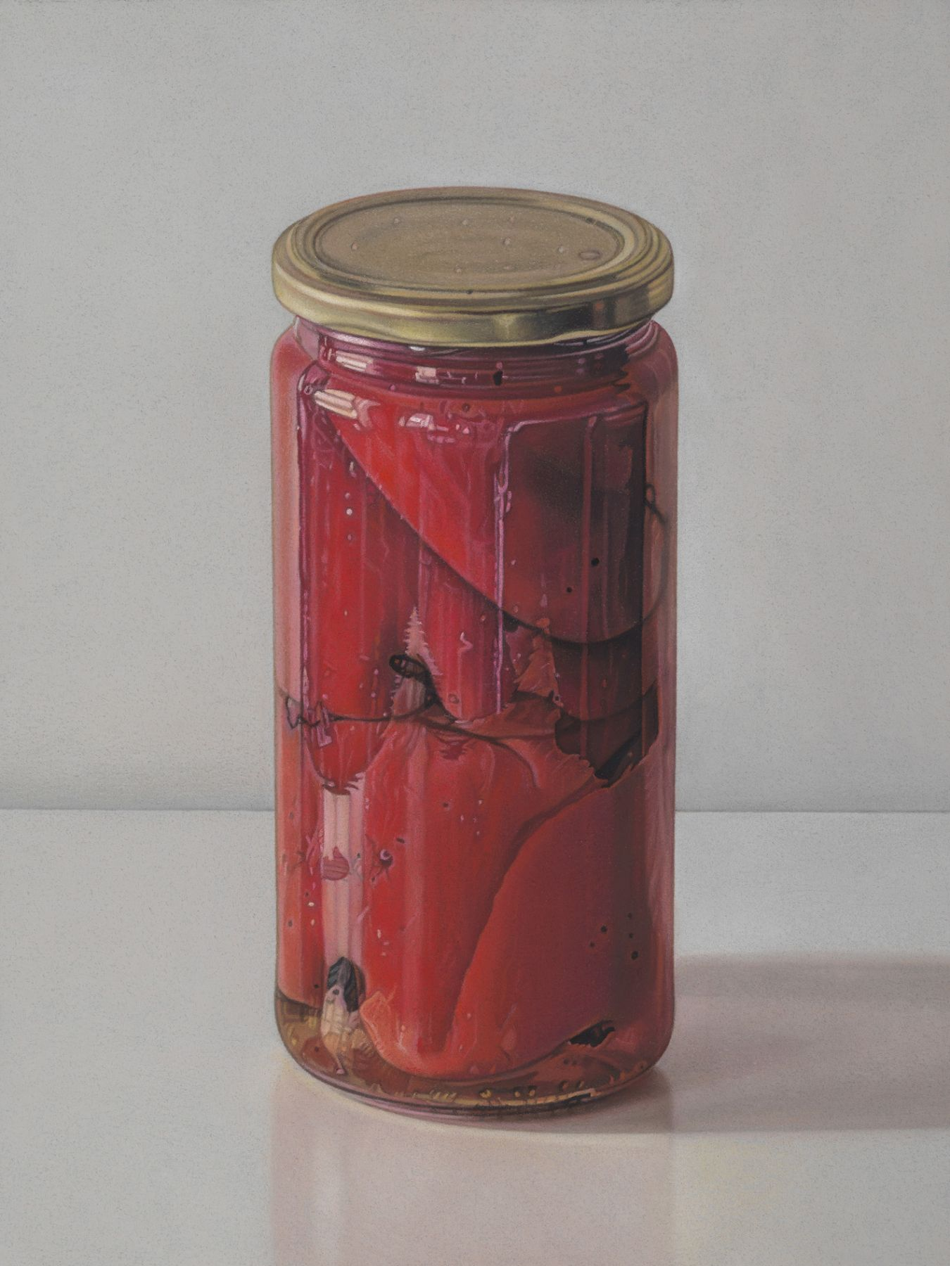 jane lund, Peppers, 2013, pastel on paper, 8 1/2 x 11 1/8 inches