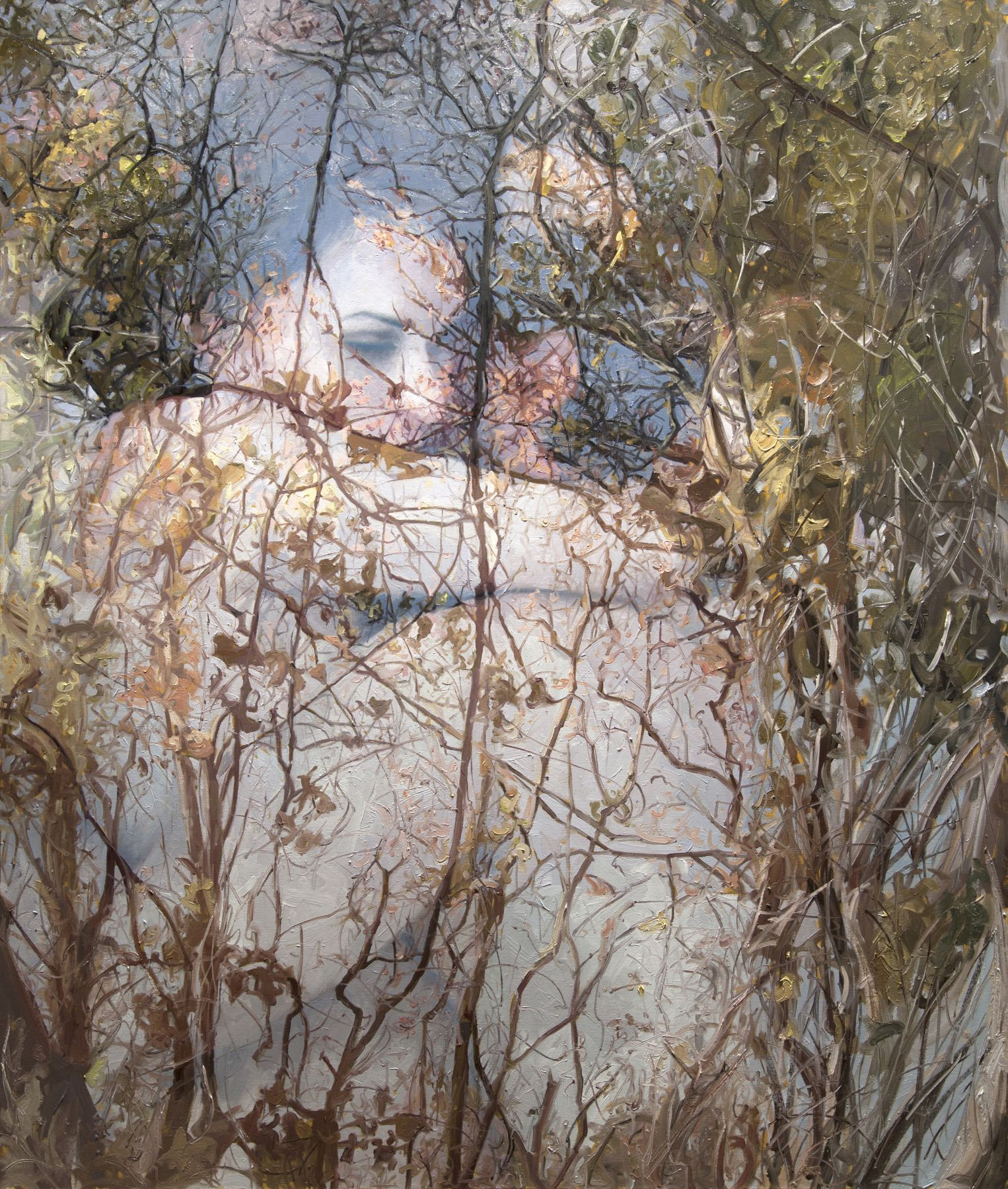 alyssa monks, Impermanence (SOLD), 2015, oil on linen, 66 x 56 inches