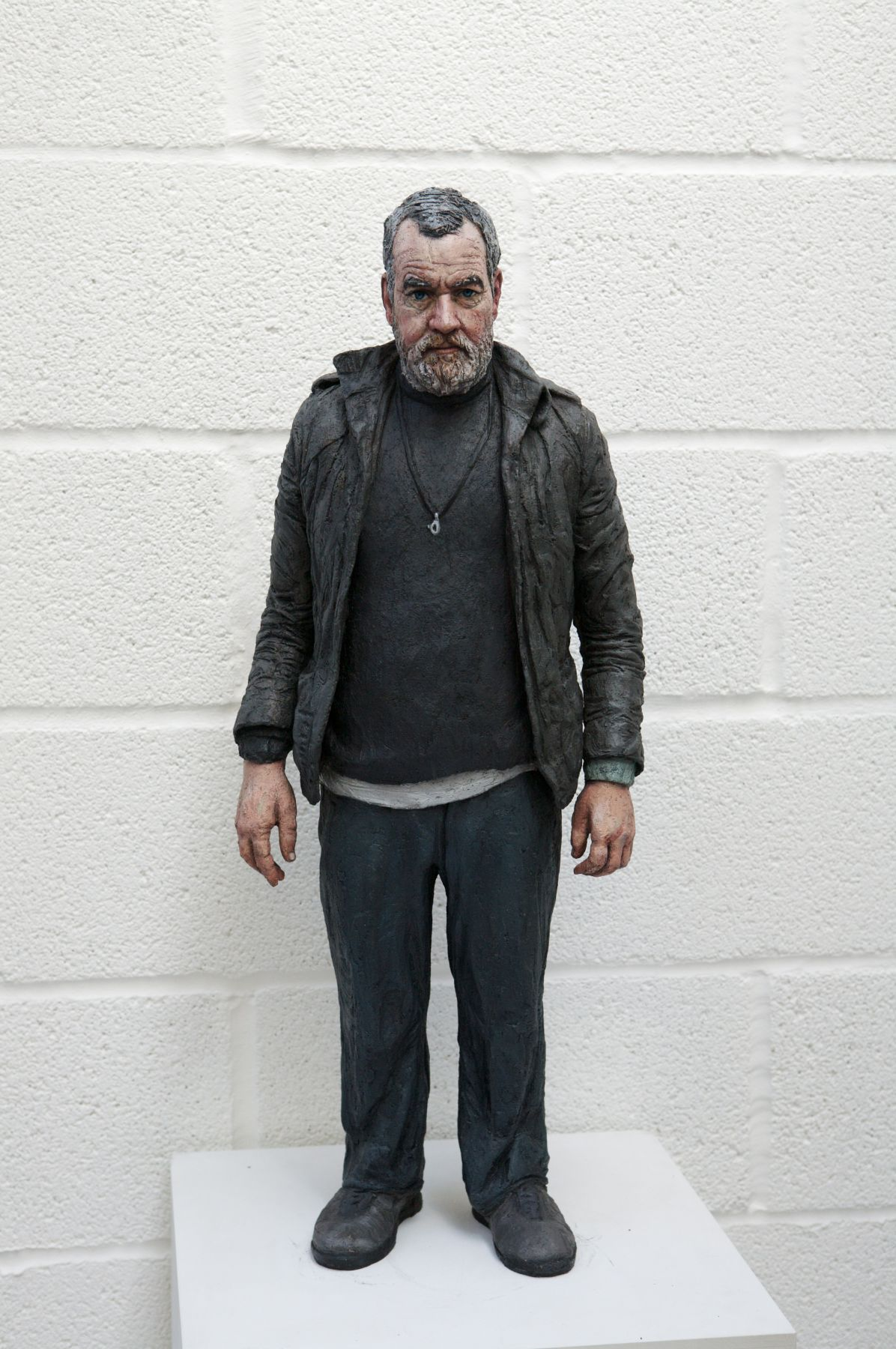 Sean Henry, John (Standing), 2008, bronze, oil paint, 30 x 11 x 8 inches, Edition 5/6