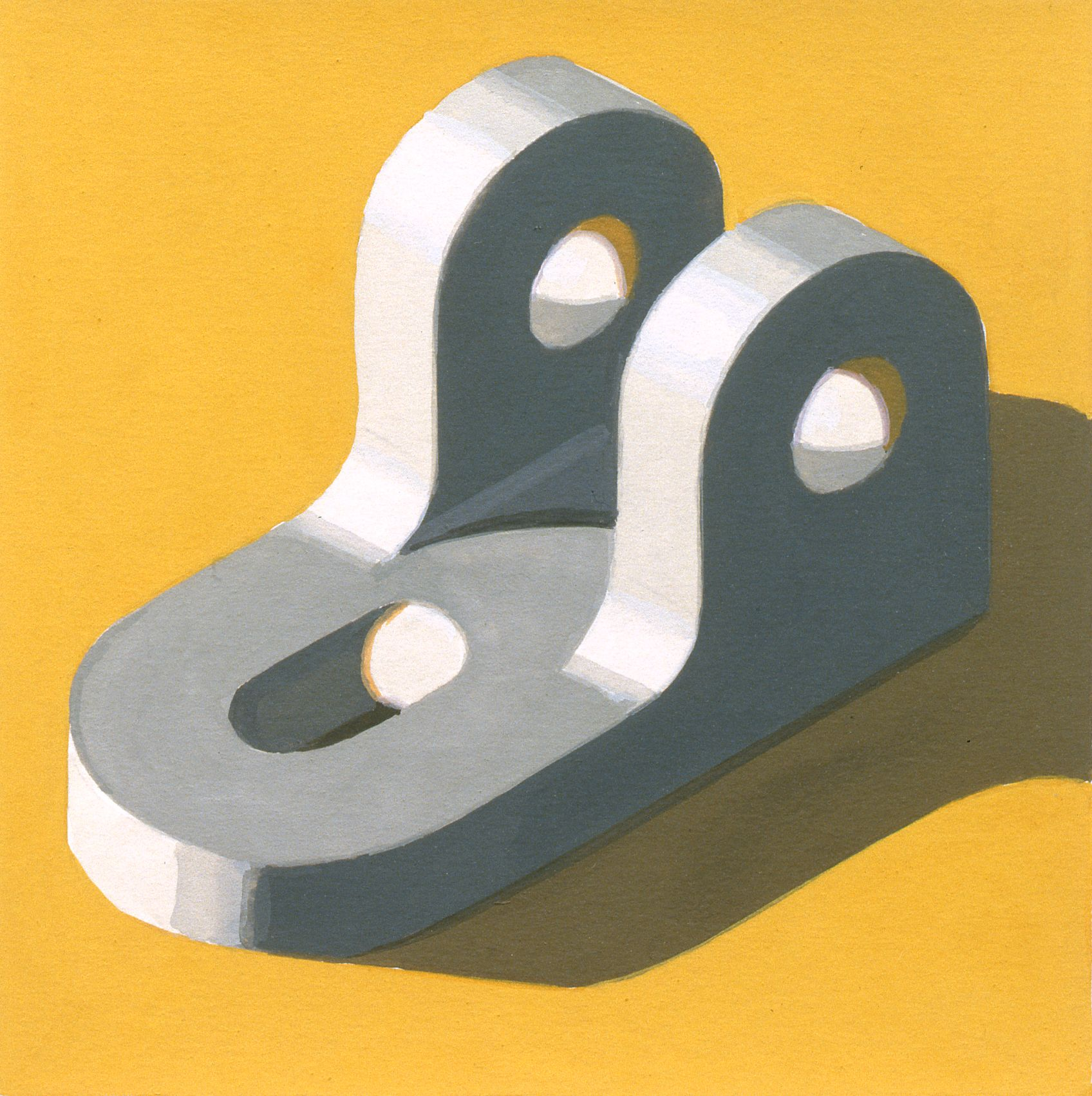 Robert Cottingham, Component XXXII, 2005, gouache on paper, 5 1/2 x 5 1/2 inches