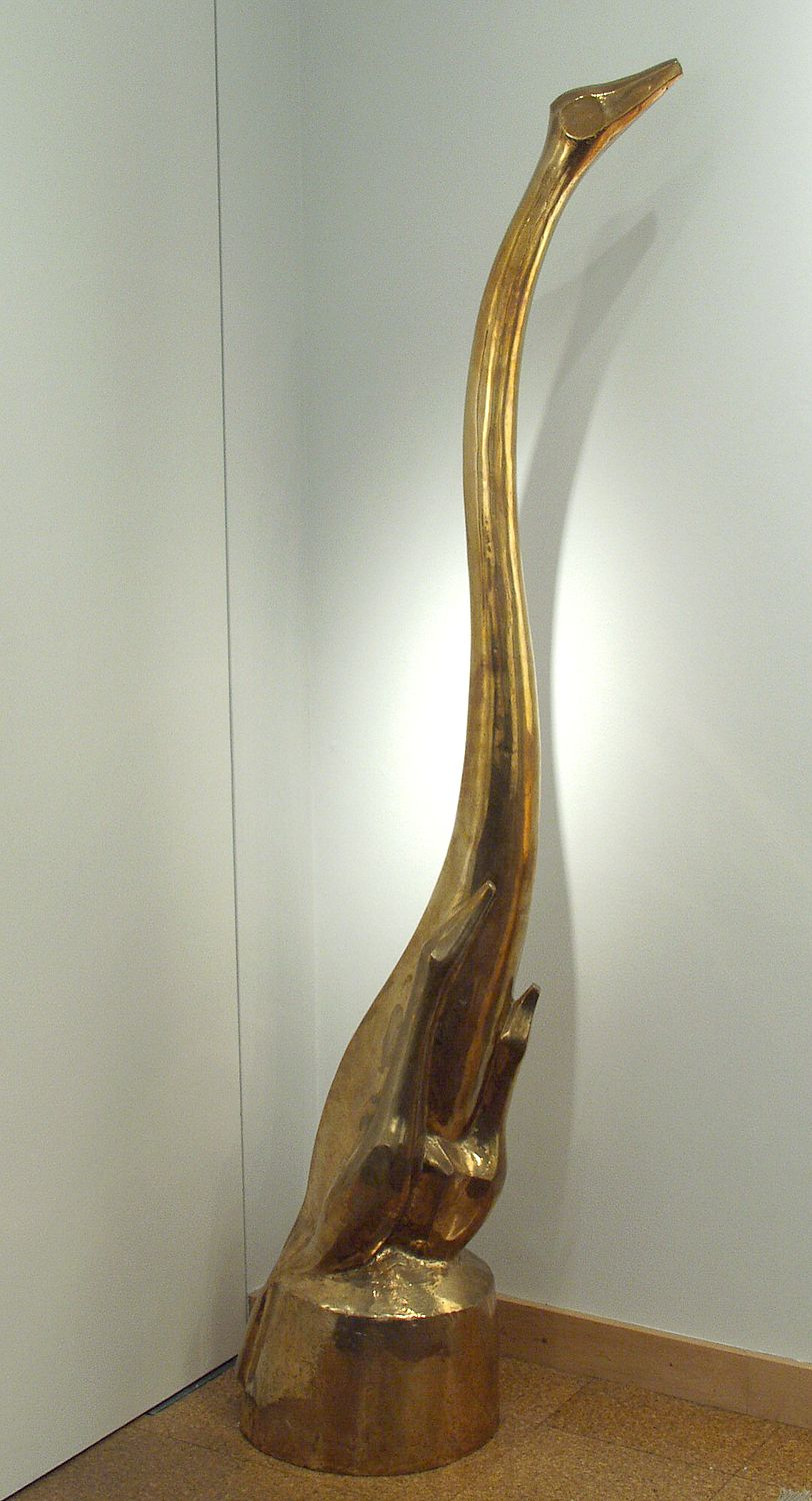 Chaim Gross, Mother Bird (SOLD), 1951, polished bronze, 77 x 17 1/2 x 16 inches, Edition of 6