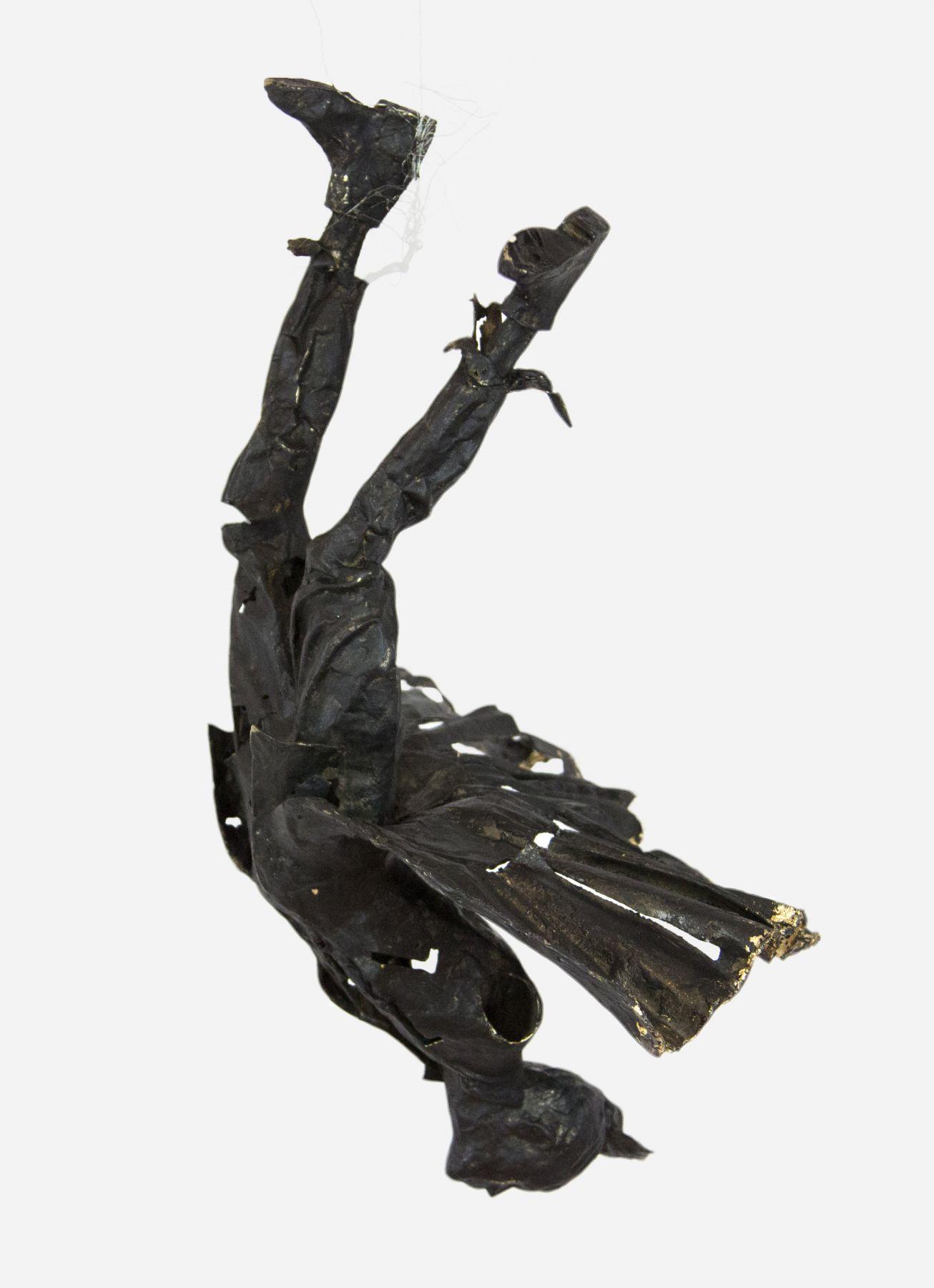 Lesley Dill, Thrill, 2009, unique cast bronze, 17 x 15 x 11 inches