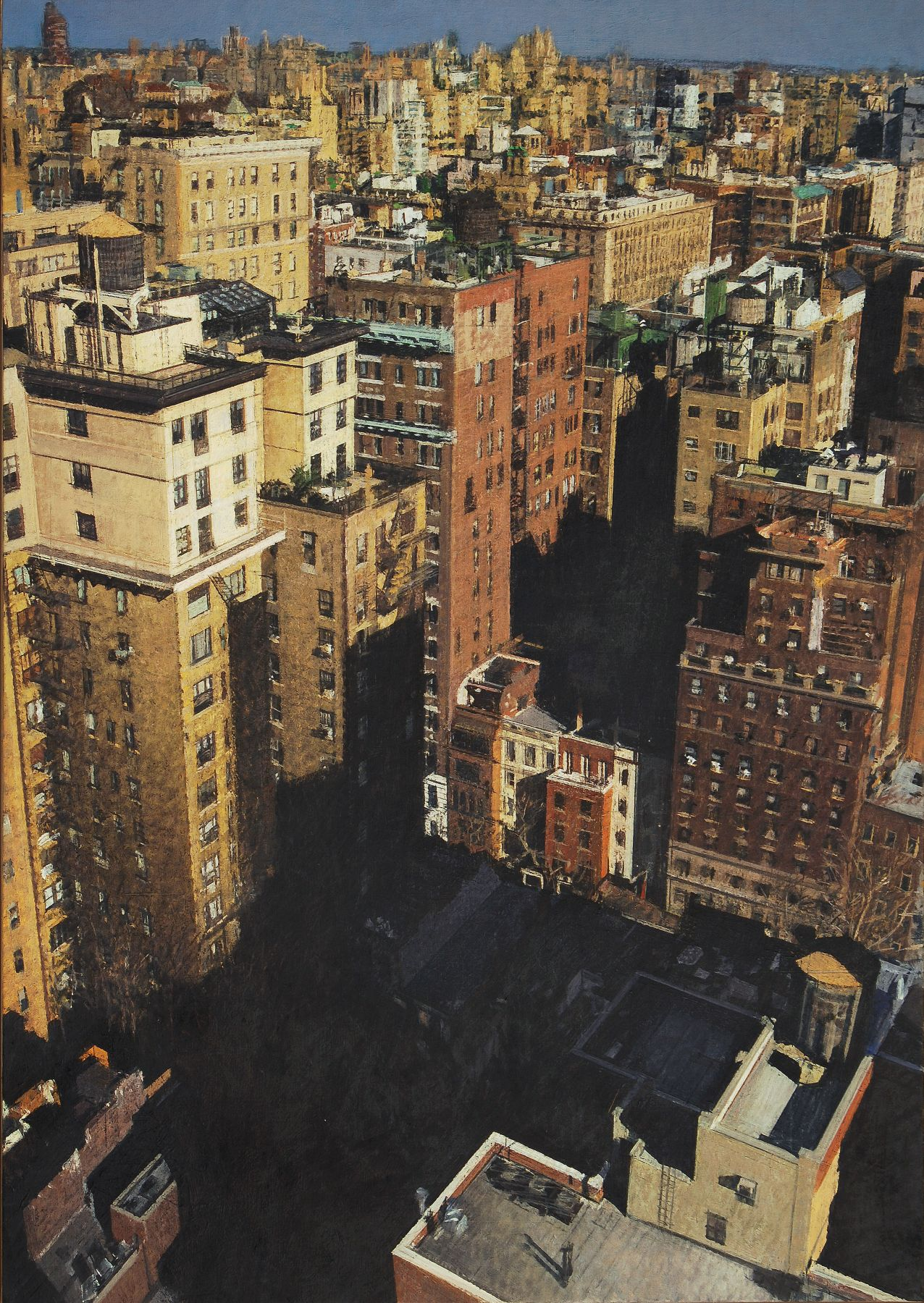 Bernardo Siciliano, Naked City #2 (SOLD), 2009, oil on canvas, 45 1/4 x 31 5/8 inches