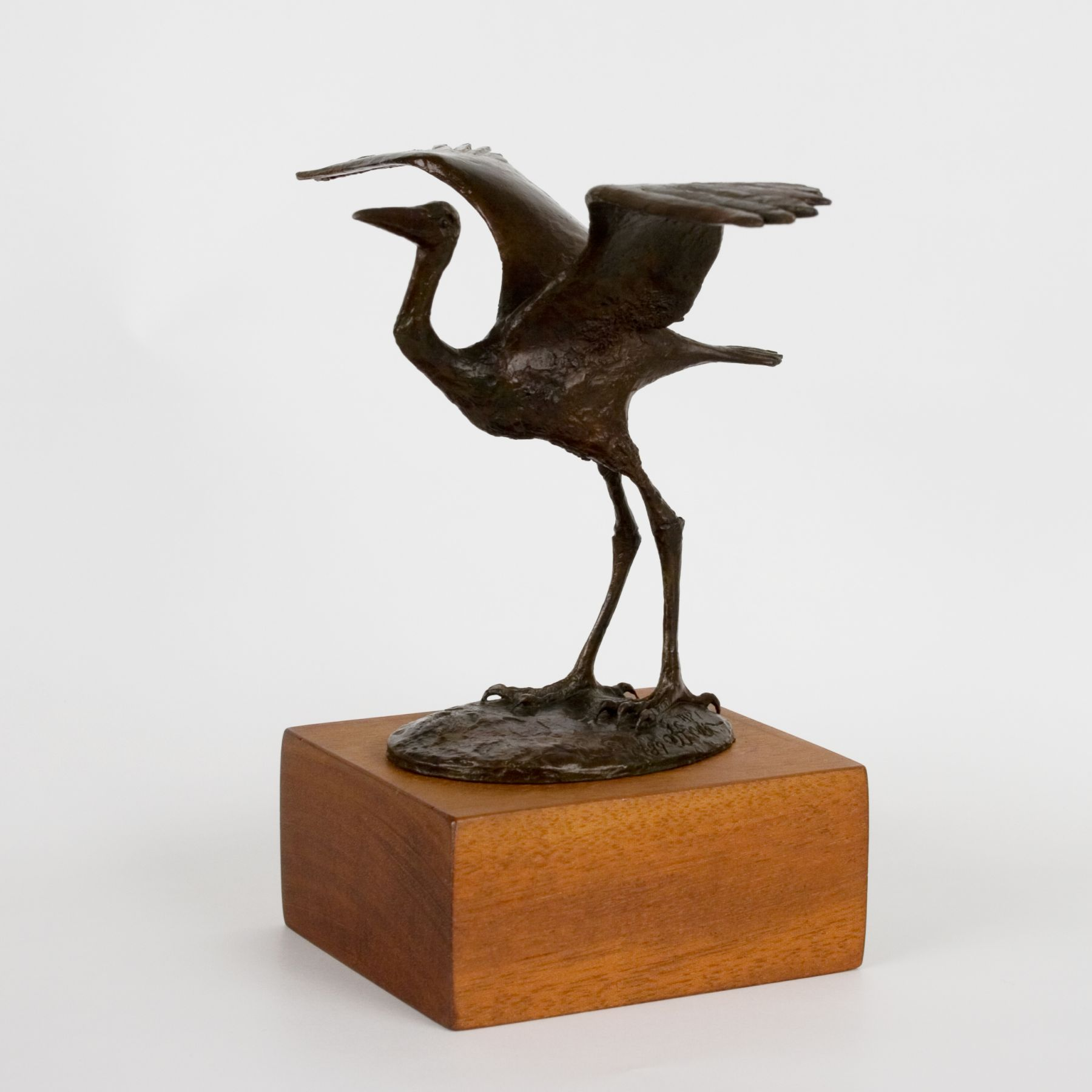 Elliot Offner, Smallest Heron, 1989, 6 x 8 1/4 x 5 inches