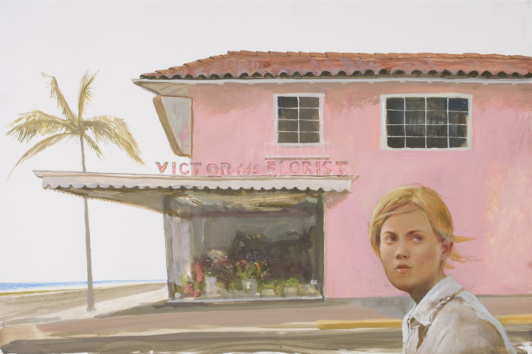 Bo Bartlett, Victor the Florist, 2007, gouache on paper, 14 1/2 x 21 inches