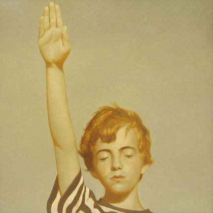 Bo Bartlett, Study for Pledge of Allegiance, 2006, oil on panel, 24 x 24 inches