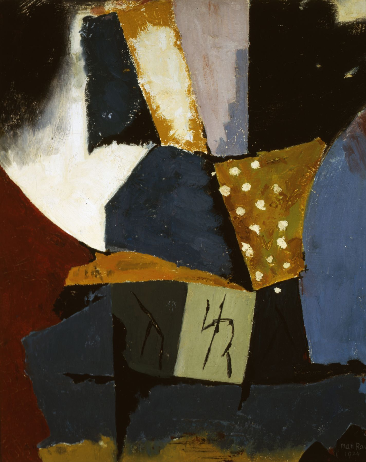 Man Ray, Painting, 1918-1924, oil on canvas, 17 3/8 x 14 1/8 inches