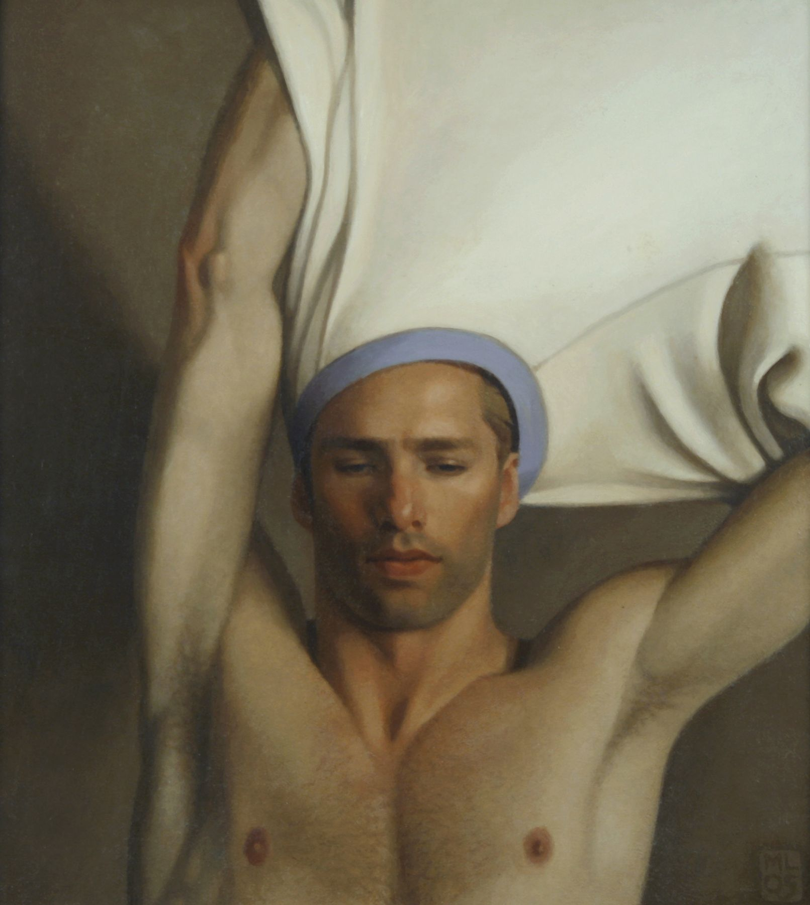 Michael Leonard, Taking Off, 2005, alkyd-oil on masonite, 18 1/2 x 16 1/2 inches