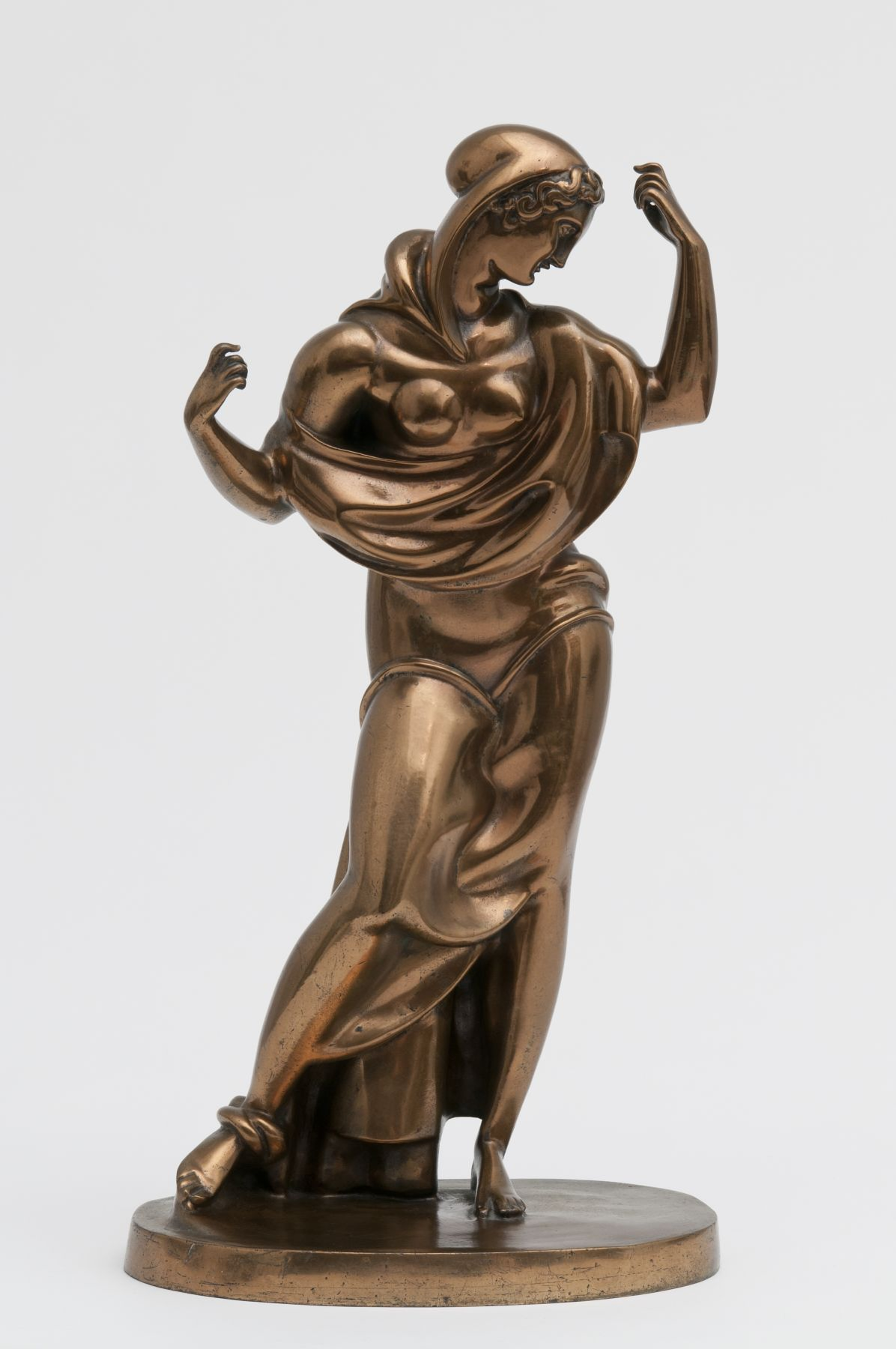 Elie Nadelman, Femme Drapée, 1912, cast c. 1925, polished bronze, 22 1/4 h x 11 1/2 w x 8 d inches