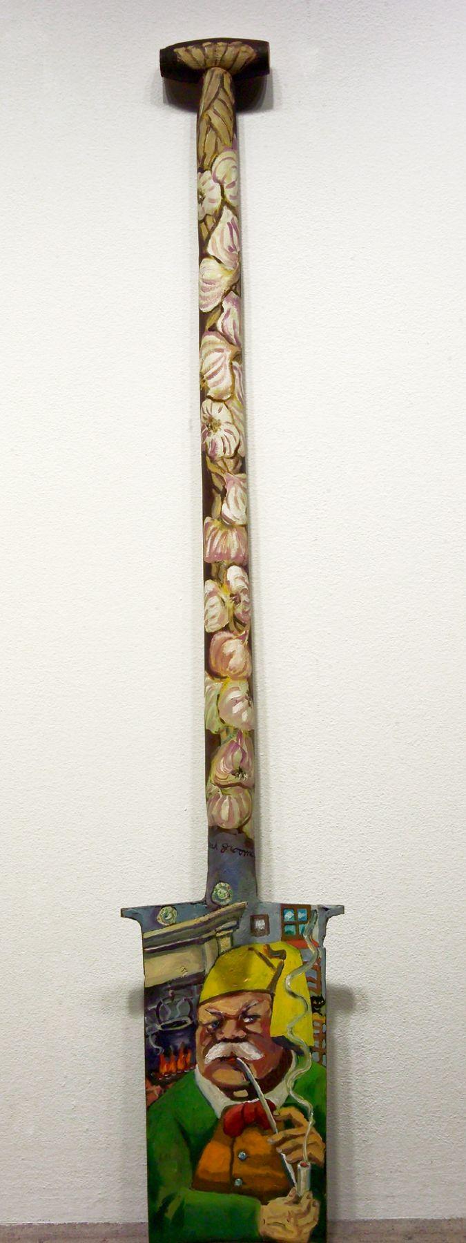 Red Grooms, L'Arlesien, 1984 oil on wood/metal, 48 x 8 x 2 inches