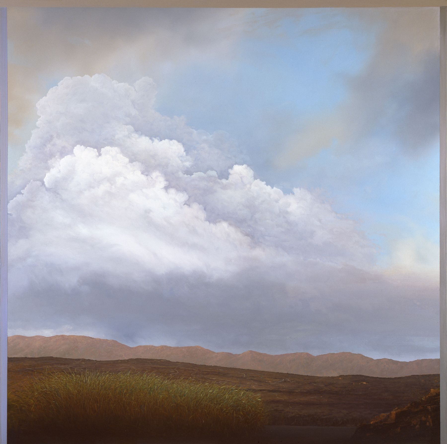 Tula Telfair, The Shifting Boundaries of Space (SOLD), 2007, oil on canvas, 60 x 60 inches