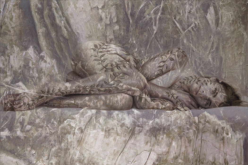 Alyssa Monks, Persistence (SOLD), 2017, oil on linen, 32 x 48 inches