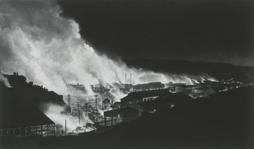Craig McPherson, ET2, 2011-2014, mezzotint, 24 x 40 inches, Edition 13/50