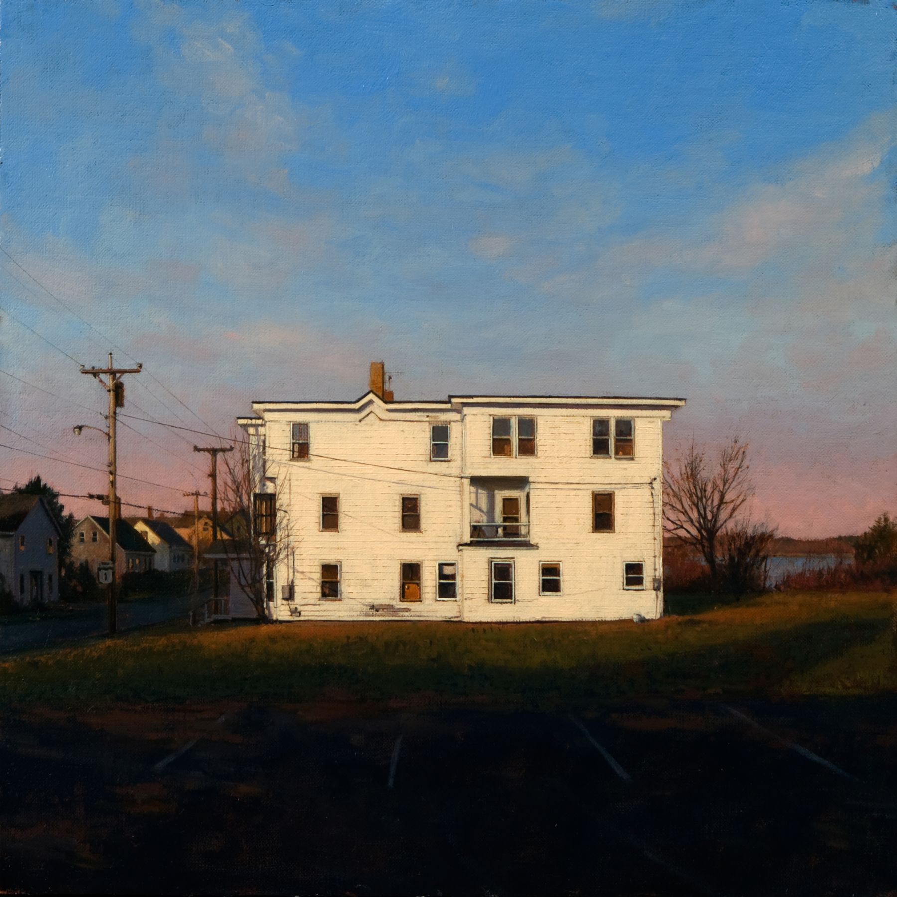 Linden Frederick, Three Family (SOLD), 2008m oil on panel, 12 1/4 x 12 1/4 inches