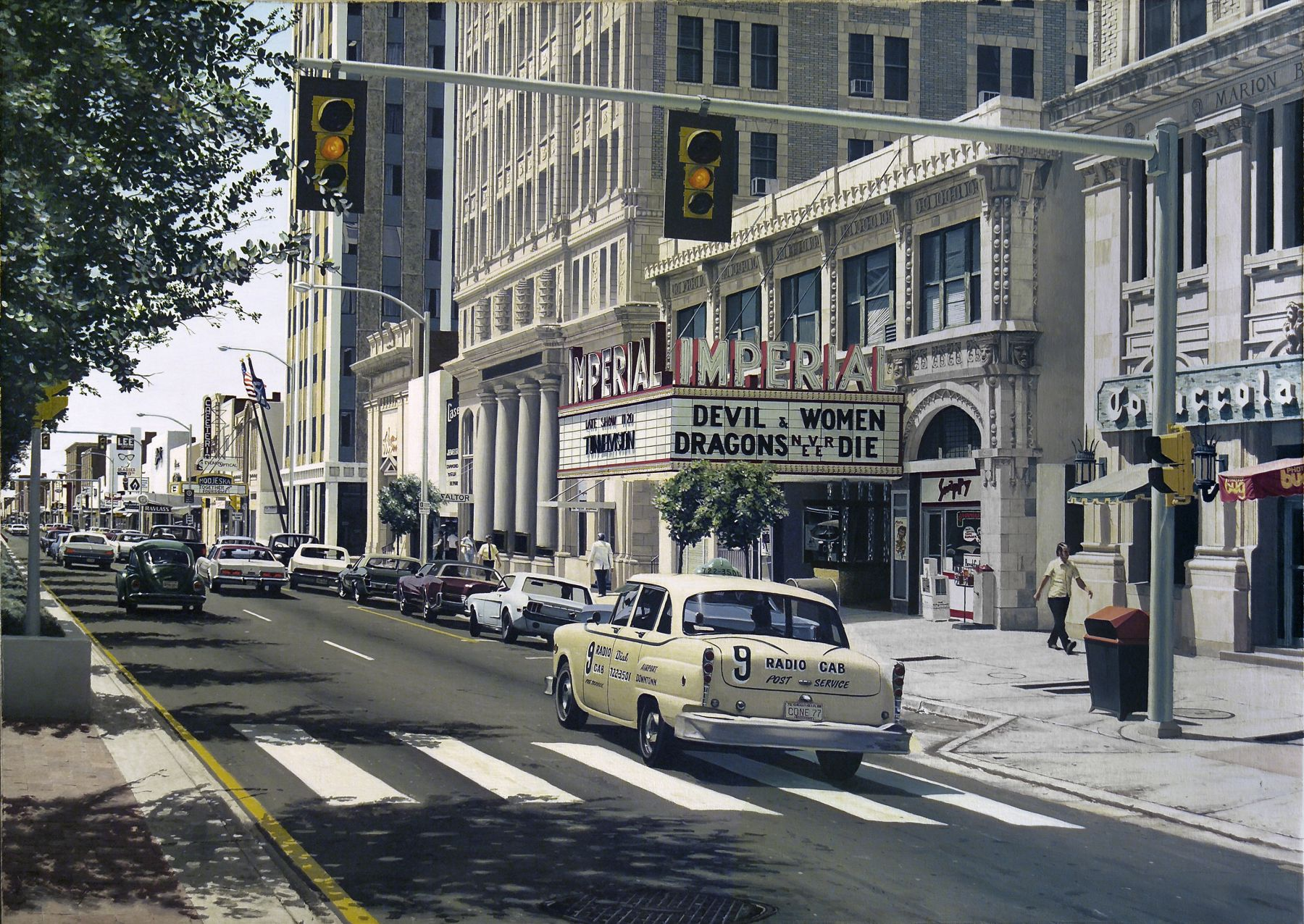 Davis Cone, Imperial (SOLD), 1977, acrylic on canvas, 34 x 48 inches