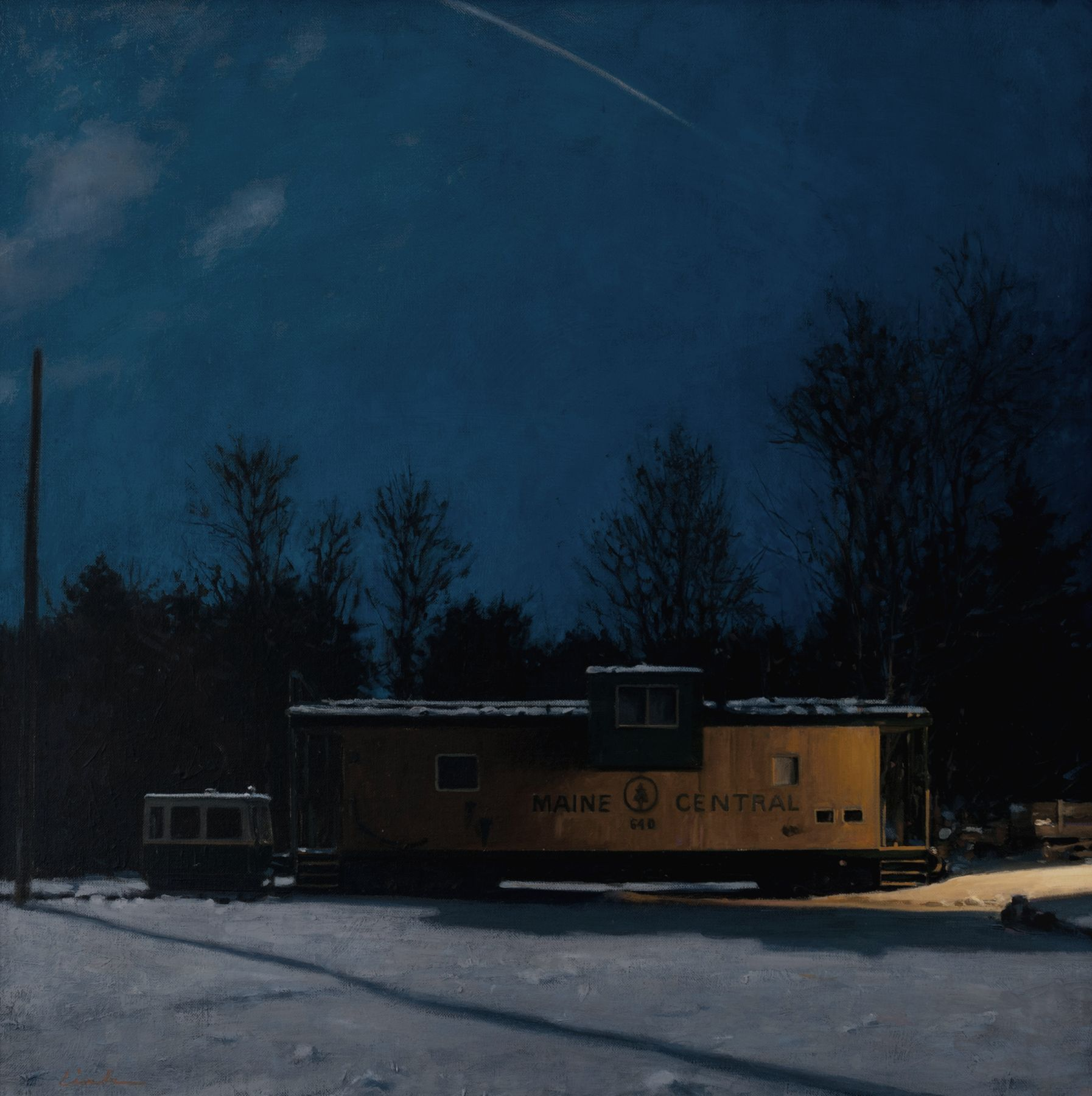 Linden Frederick, Terminus (SOLD), 2011, oil on linen, 20 x 20 inches