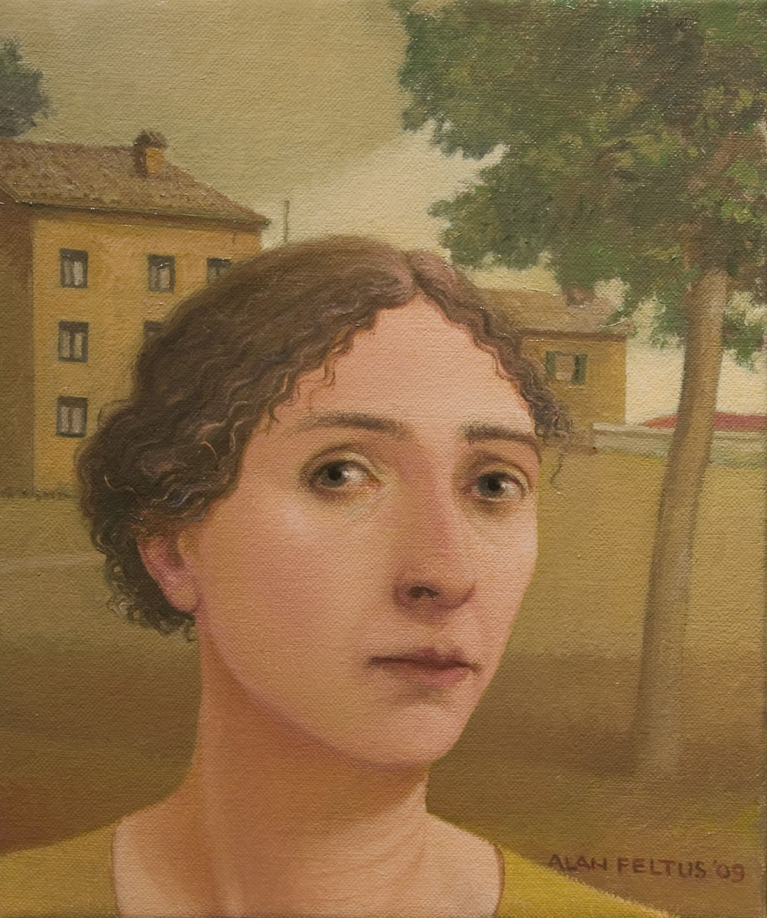 alan feltus, Teresa, 2009, oil on canvas, 12 x 10 inches