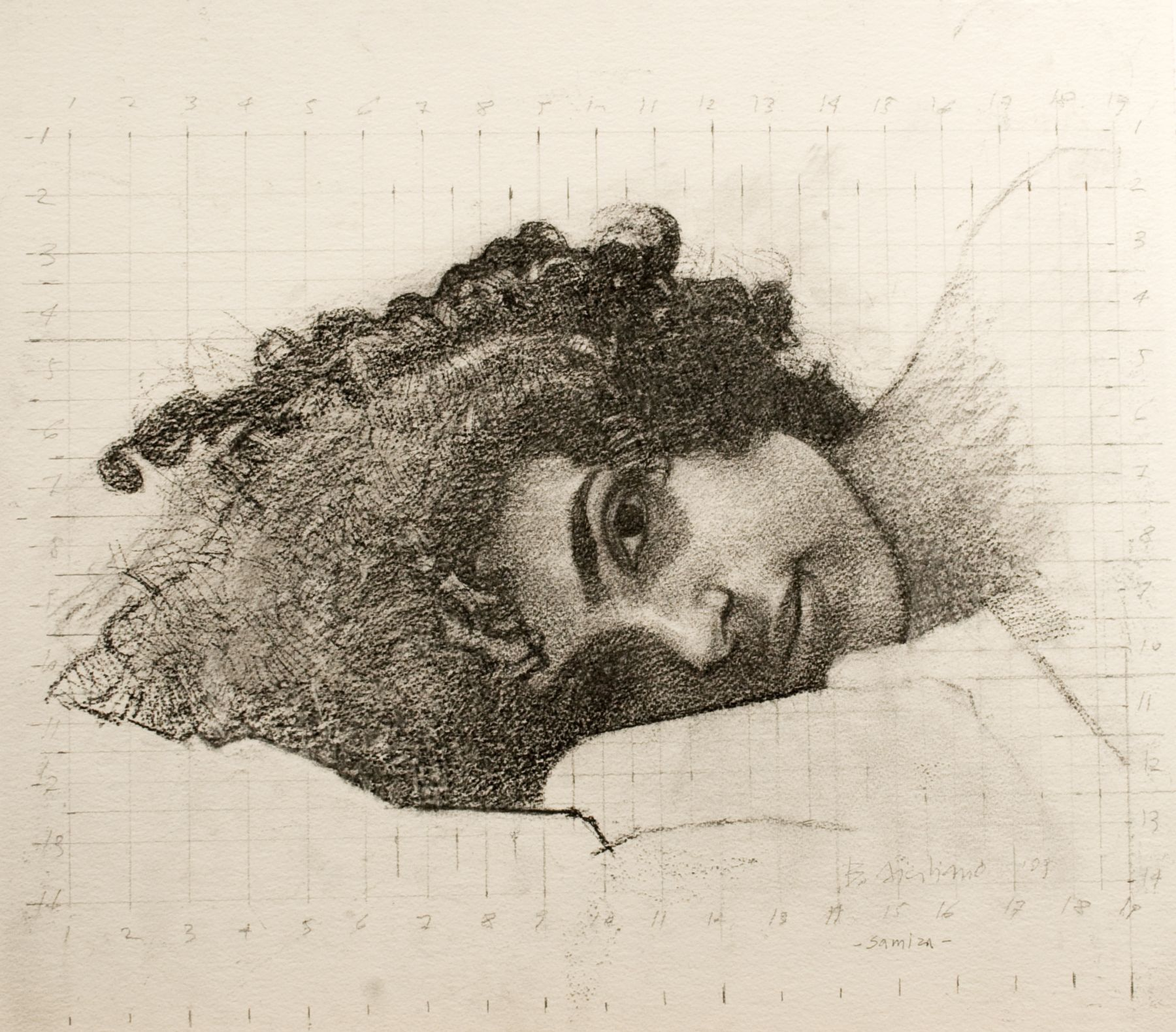 Bernardo Siciliano, Samira (SOLD), 2009, graphite on paper, 22 1/2 x 24 inches