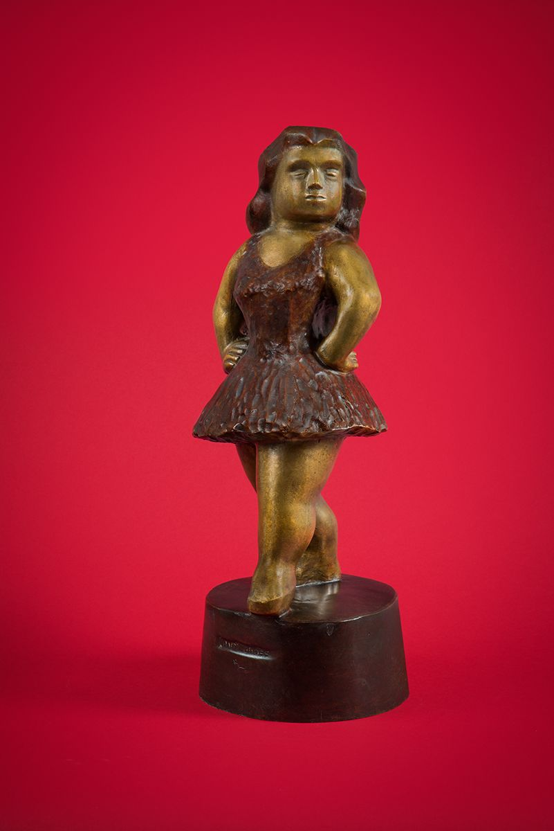 Chaim Gross, Ballet Girl, c. 1941, bronze, 21 x 7 3/4 x 8 1/4 inches