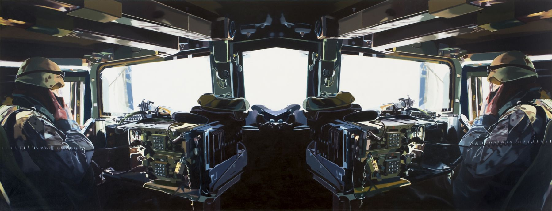 Megan Rye, Drive, 2008, oil on canvas, 42 x 110 inches