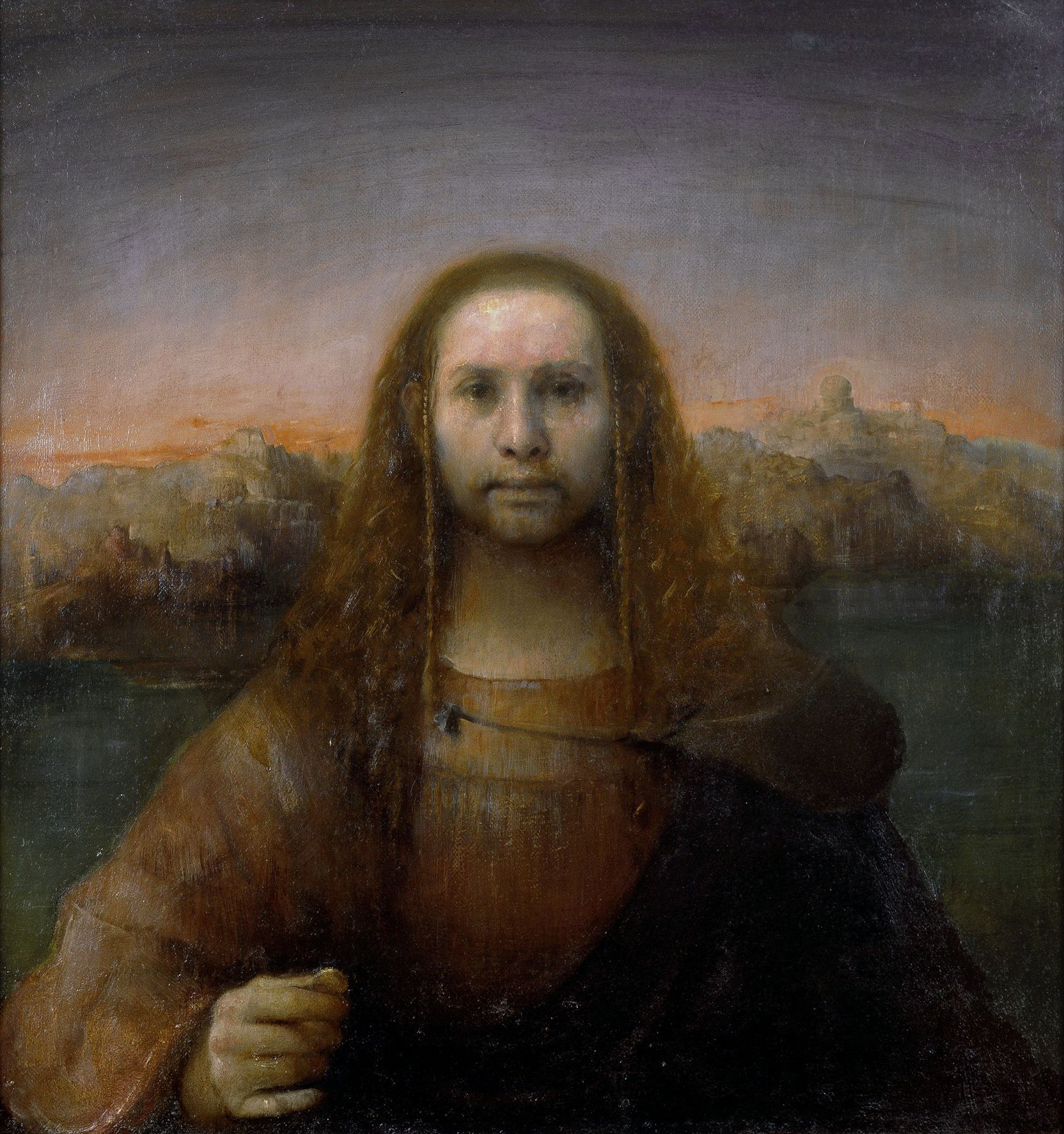 Odd Nerdrum, Man with Golden Coin, oil on linen, 33 3/8 x 31 5/8 inches