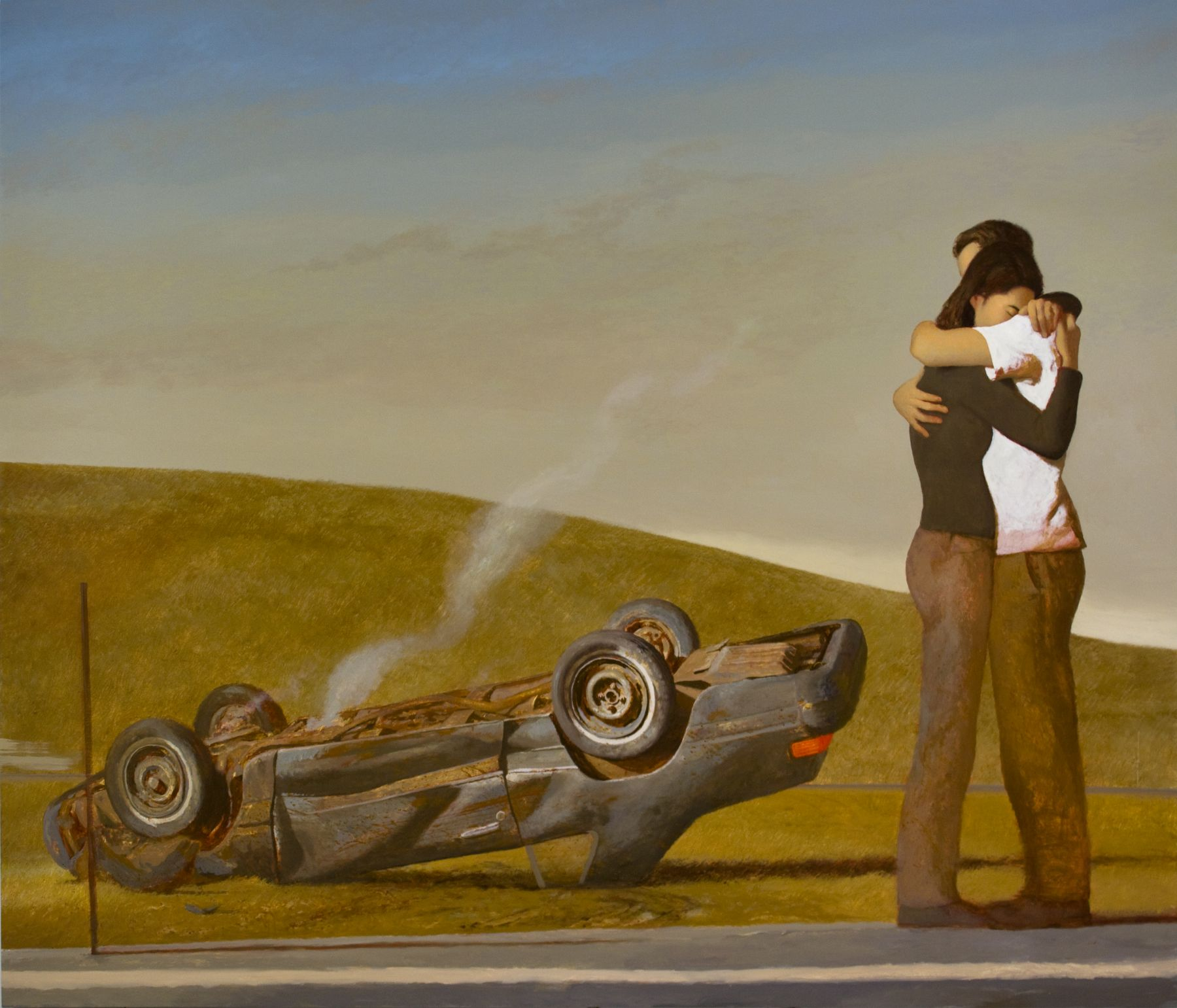 Bo Bartlett, A Miraculous Outcome, 2008, oil on linen, 76 x 90 inches