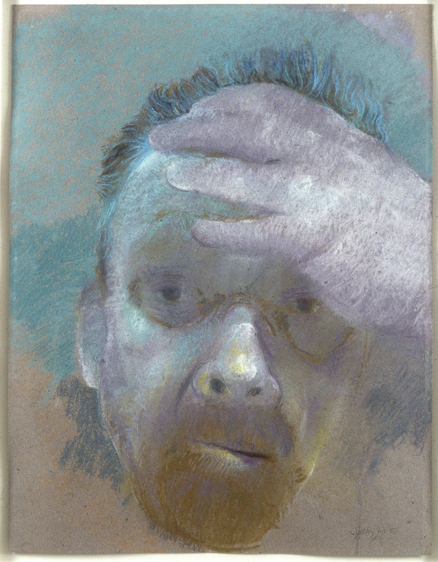 Jimmy Wright, Self No. 4, 2002, pastel on paper, 25 1/2 x 19 1/2 inches