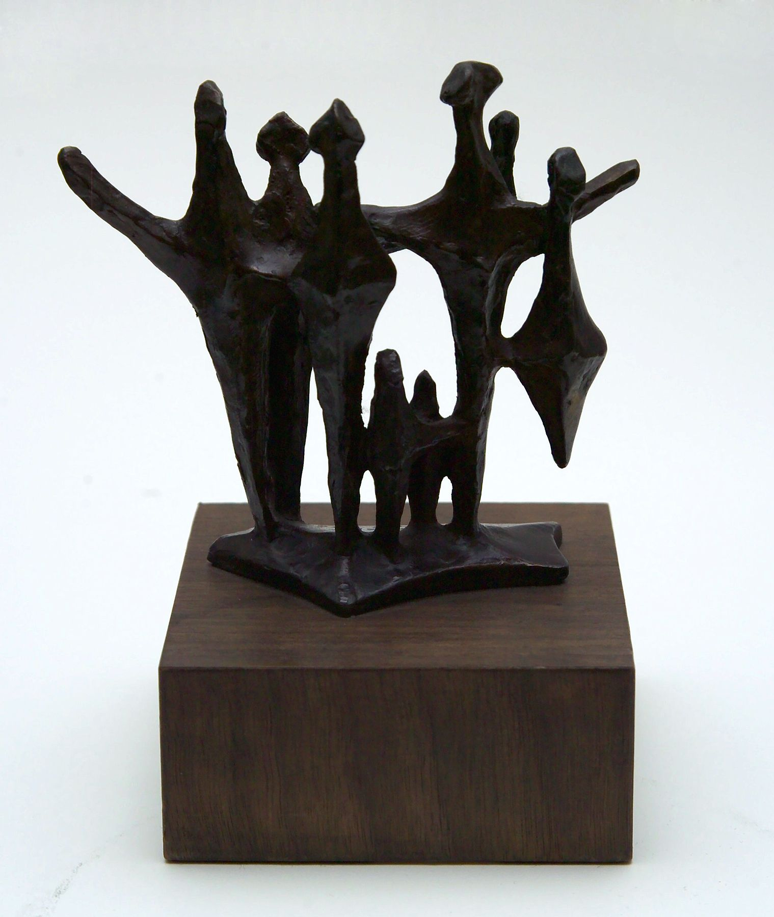Chaim Gross, Shabbot Angels, 1973, bronze, 5 1/2 X 6 X 2 3/4 inches