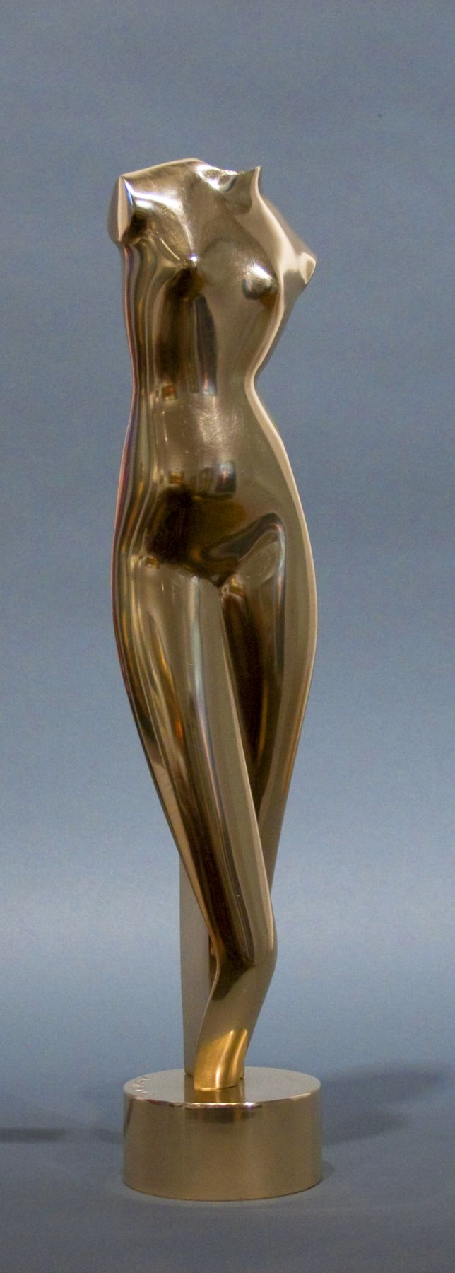 Alexander Archipenko, White Torso, 1916, cast later, polished bronze, 18 1/2 x 3 3/4 x 2 3/4 inches