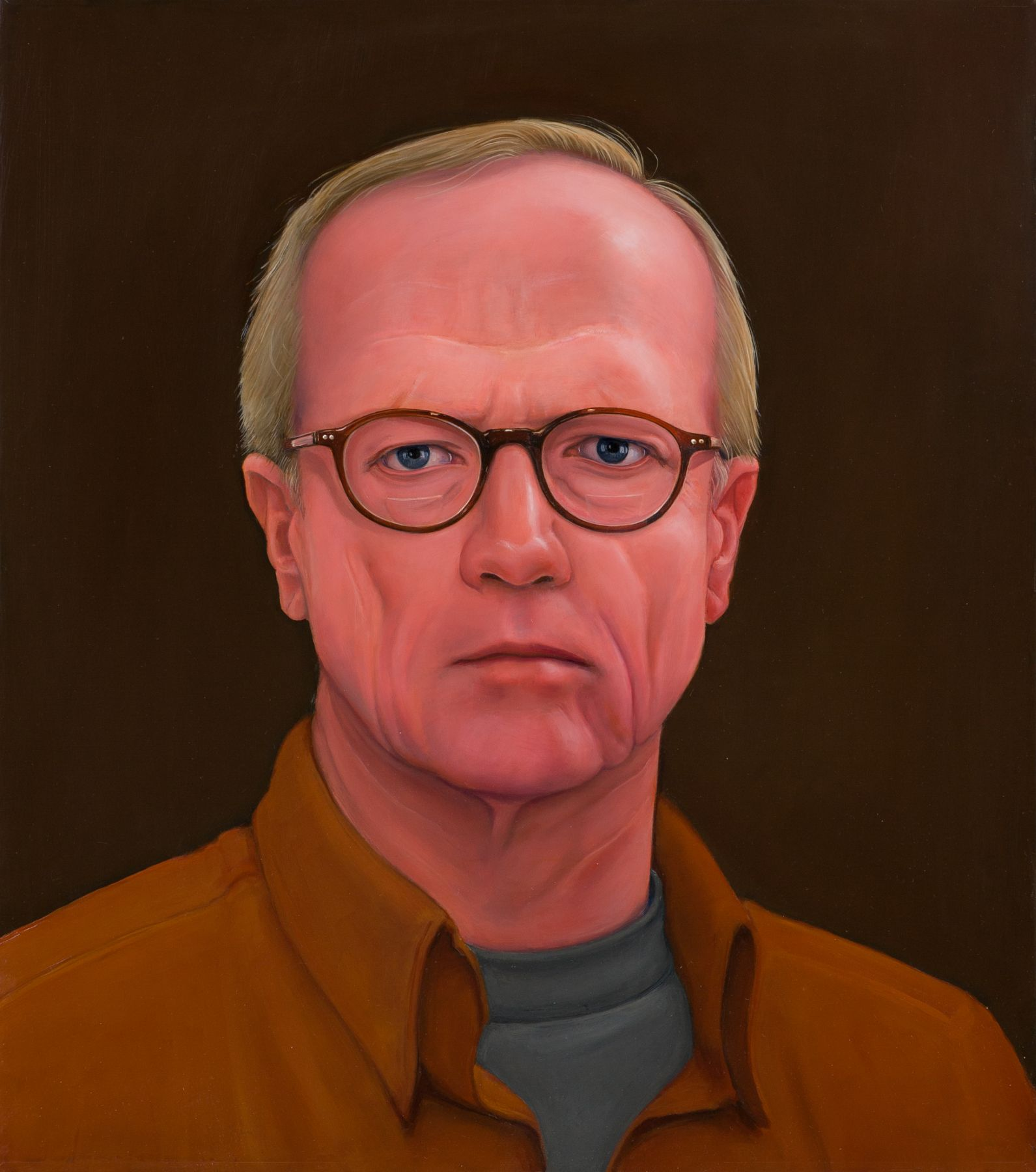 William Beckman, S.P., Brown on Brown, 2013, oil on panel, 21 x 18 1/2 inches