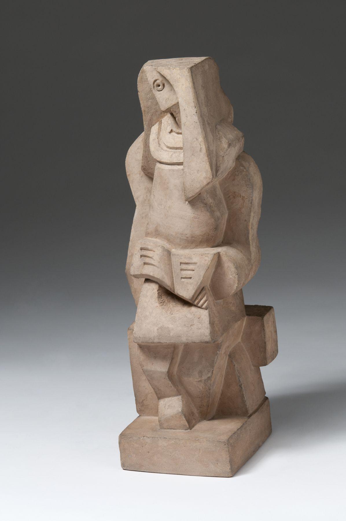 Jacques Lipchitz, Liseuse (Woman Reading), 1919, cast terracotta, 15 3/8 h x 5 7/8 w x 4 5/8 d inches, Edition 6/7