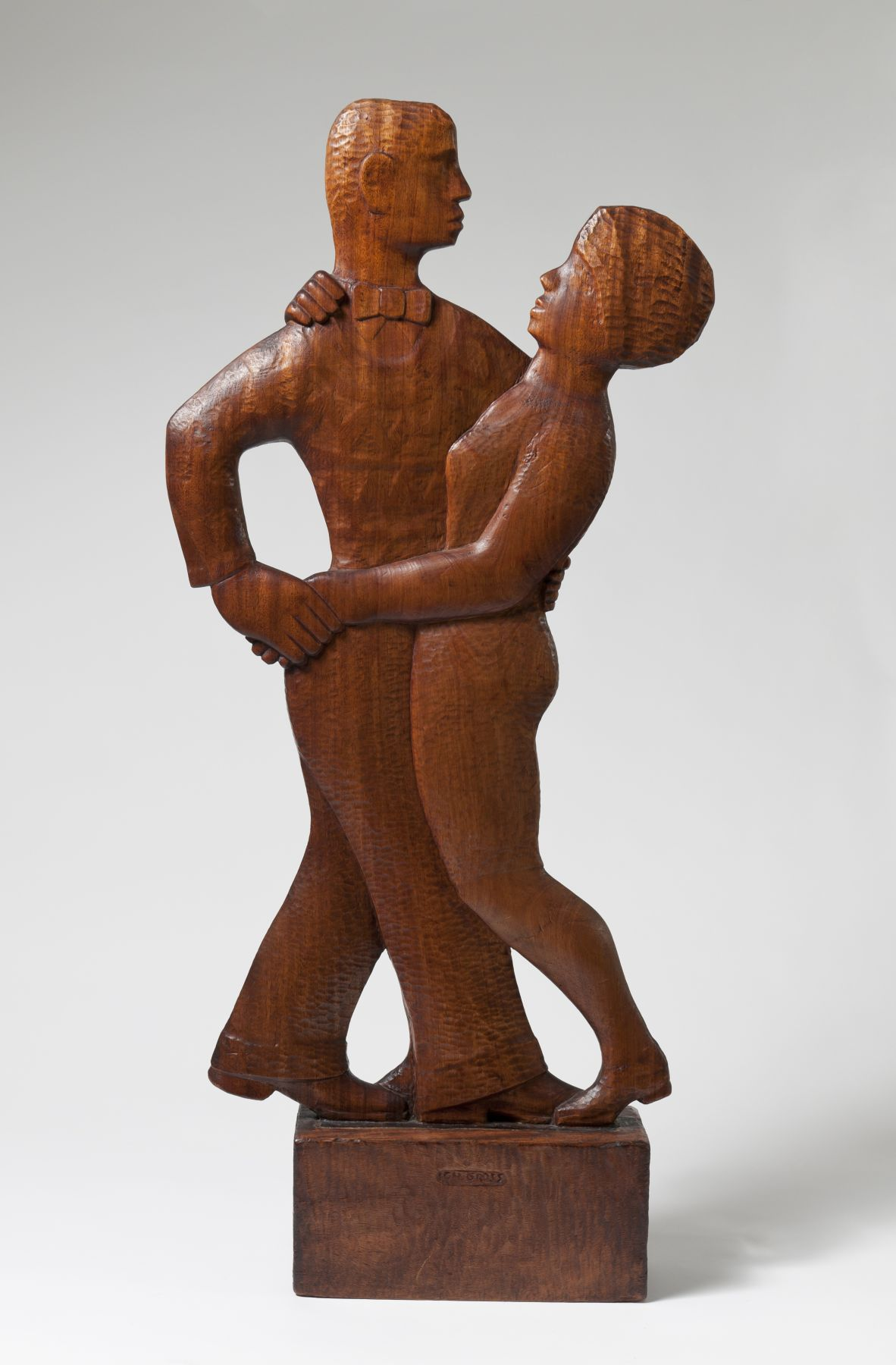 Chaim Gross, Jazz, 1929, mahogany, 41 5/8 h x 19 w x 5 d (at base) inches