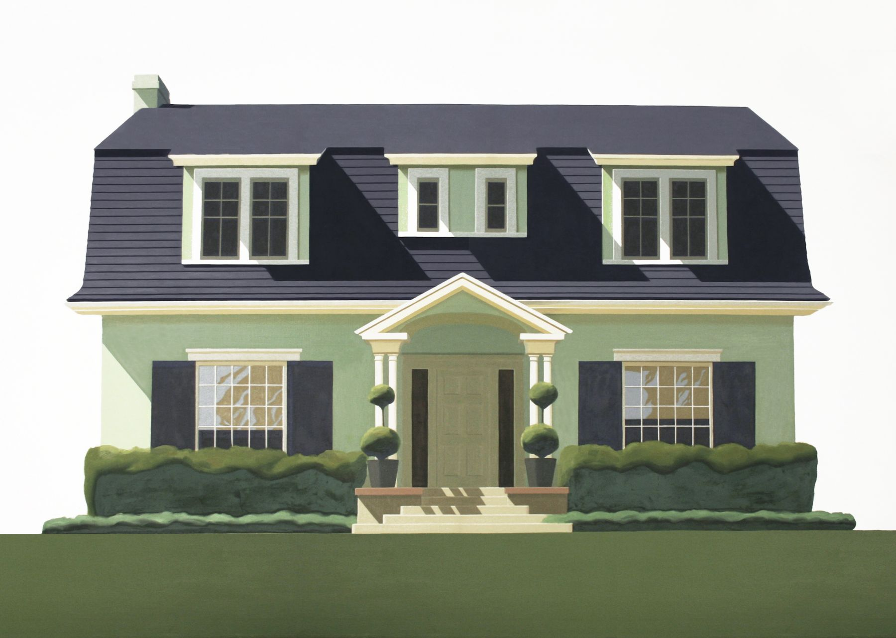 Robert Cottingham, House on Windsor, 1969, oil on canvas, 51 x 72 inches