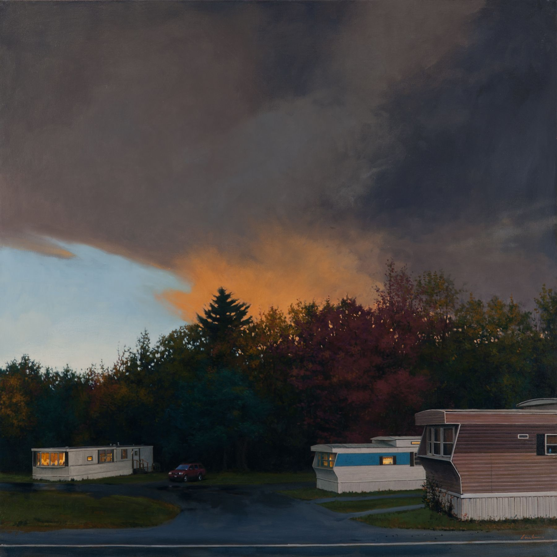 Linden Frederick Trio, 2010 oil on linen 40 x 40 inches
