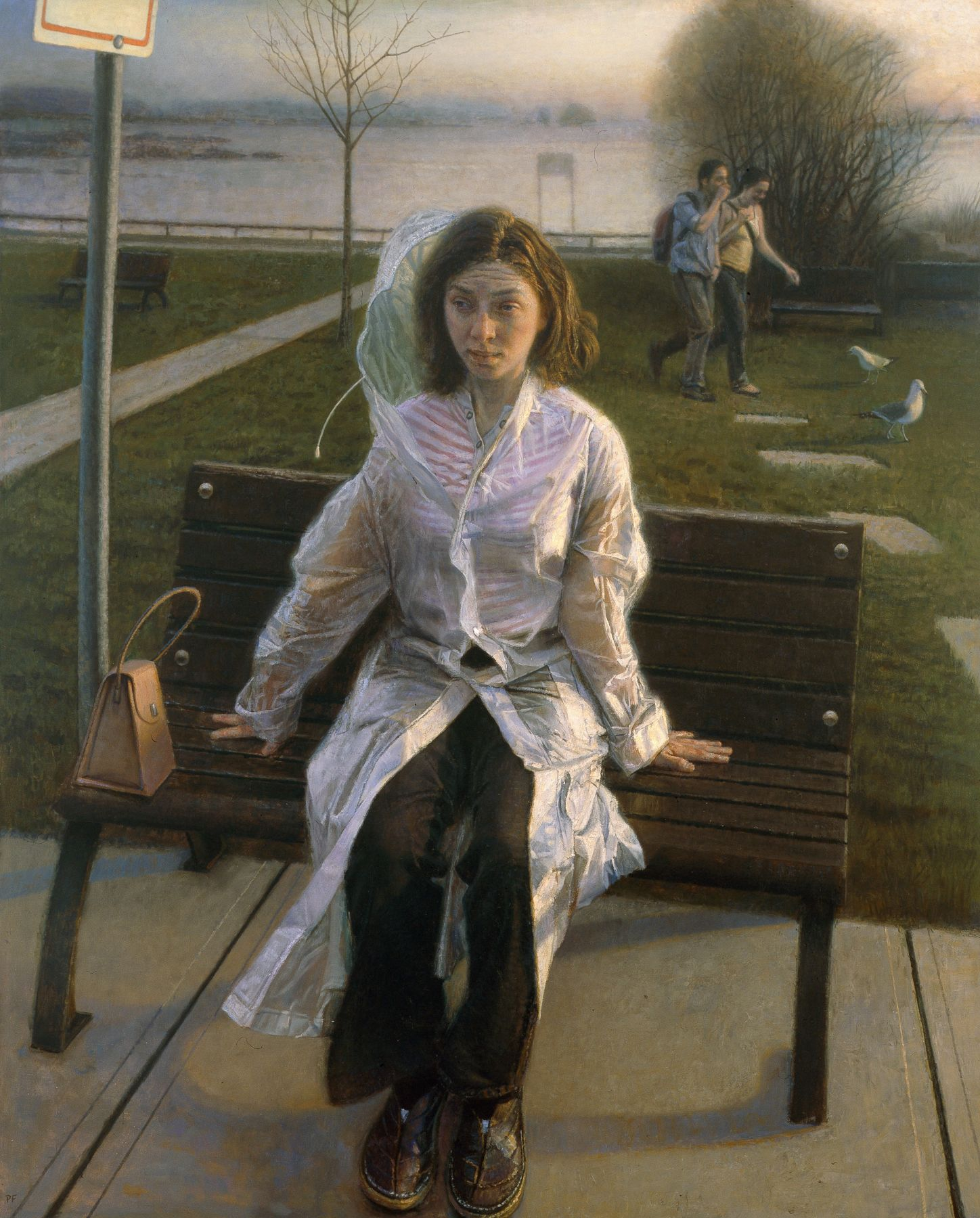 Paul Fenniak, Bus Stop (SOLD), 2007, oil on canvas, 60 x 48 inches