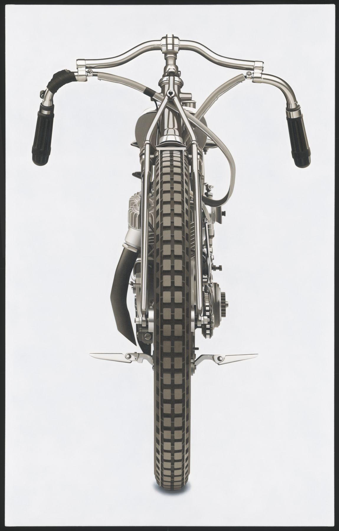William Fisk, Untitled No. 3 (from the Motorcycle Paintings), 2010, oil on canvas, 76 x 48 inches