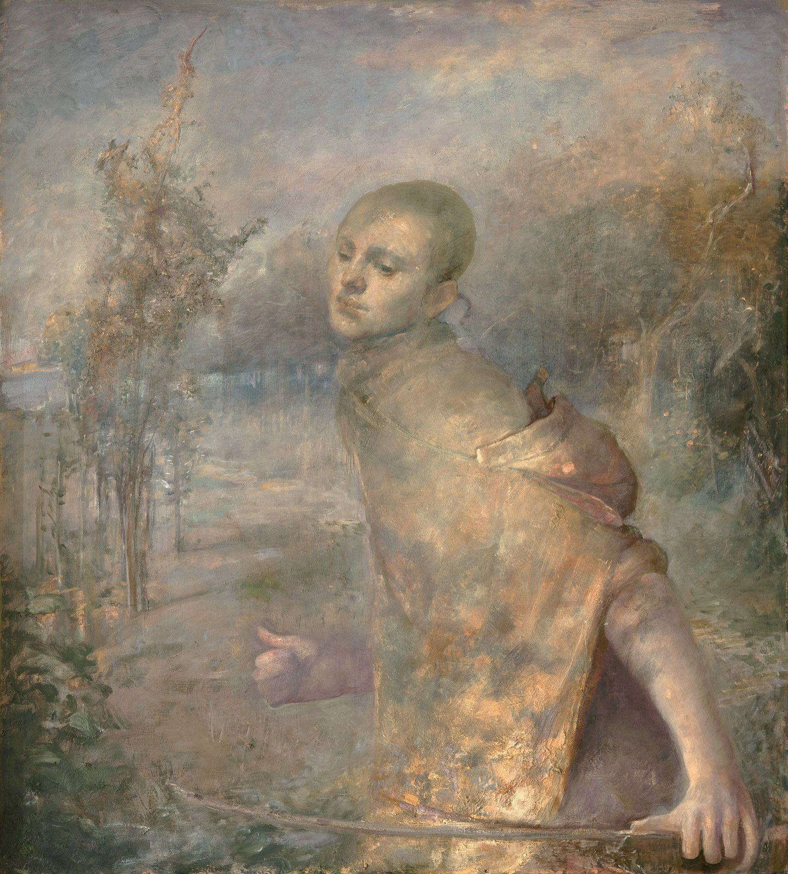 odd nerdrum, Birds, oil on canvas, 39 3/8 x 35 3/8 inches