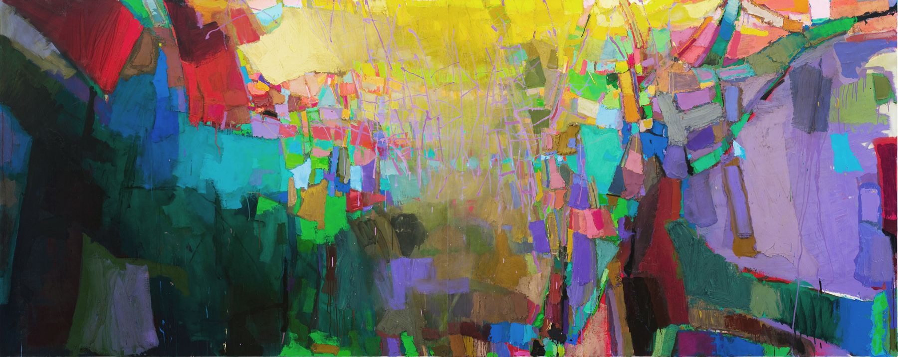 Brian Rutenberg Low Dense (SOLD), 2010, oil on linen, 63 x 158 inches