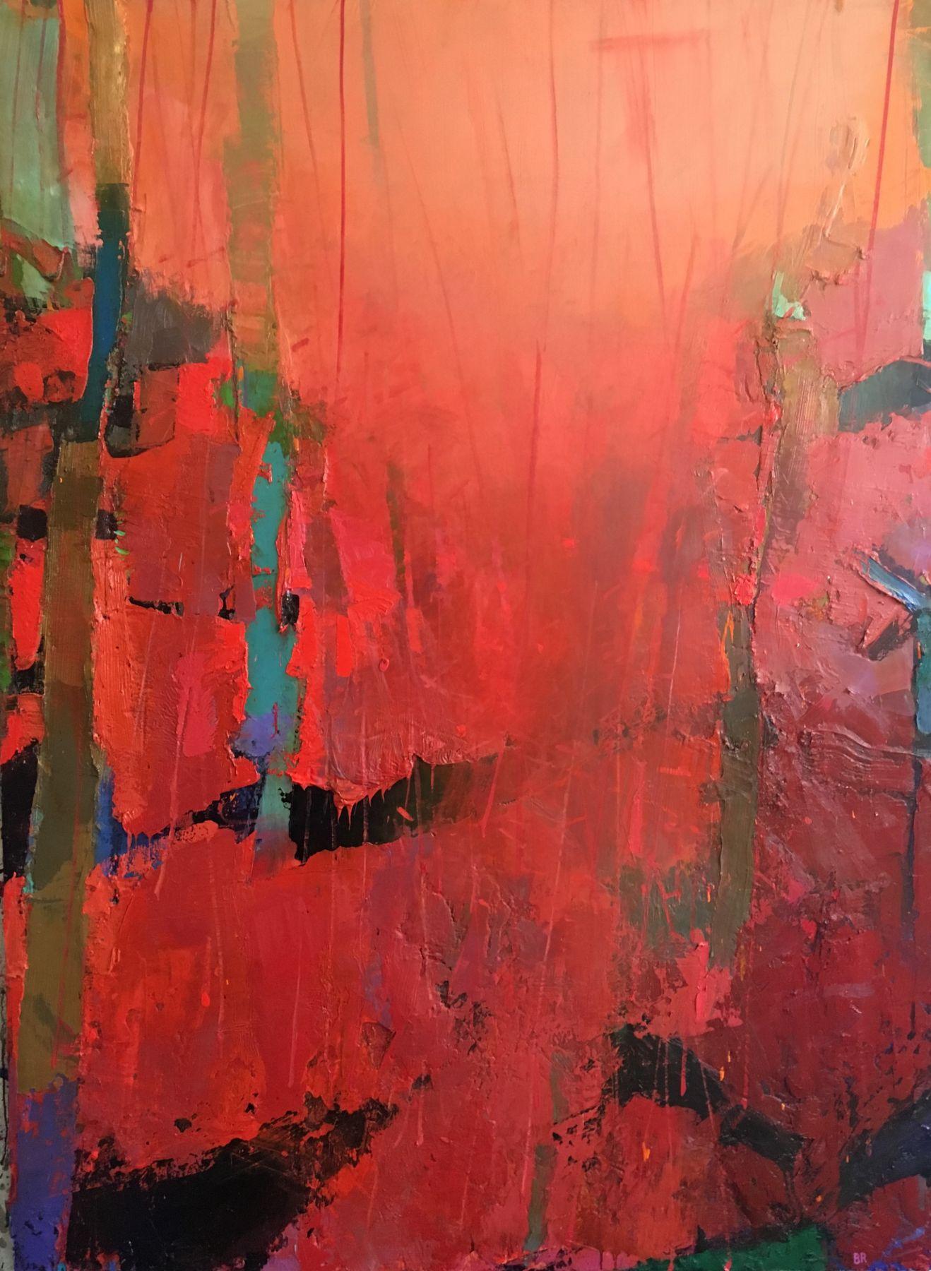 Brian Rutenberg, Lever (SOLD), 2016, oil on linen, 82 x 60 inches
