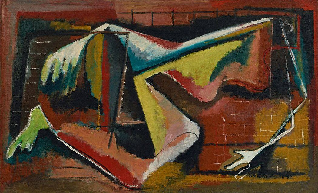 Norman Lewis, Jazz, 1945, oil on canvas, 21 1/2 x 35 1/2 inches