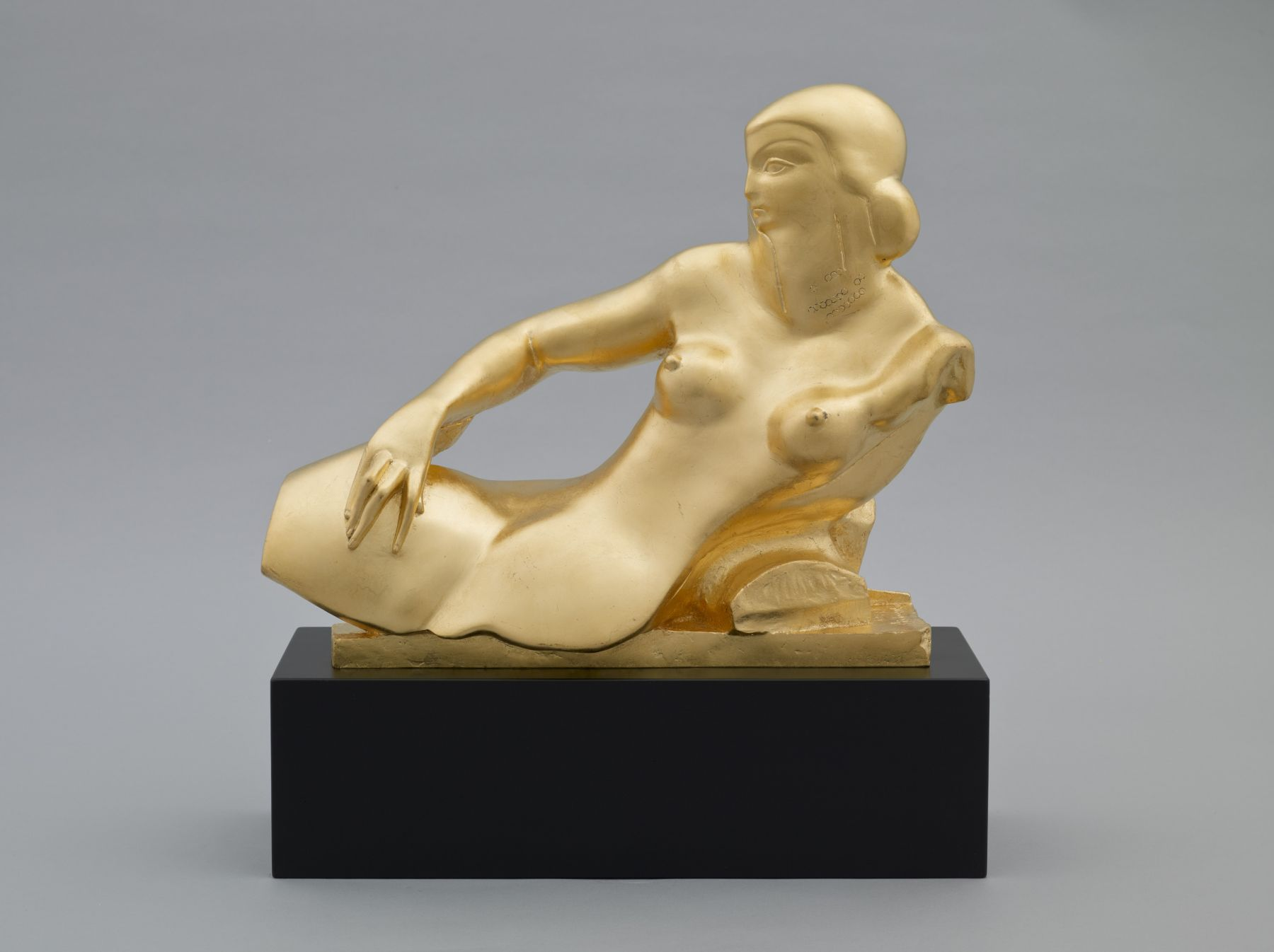 Alexander Archipenko, Angelica (Sarcophagus of Angelica), 1925, cast in 2008, bronze, gold leafed, 12 h x 14 w x 5 7/8 d inches, posthumous cast