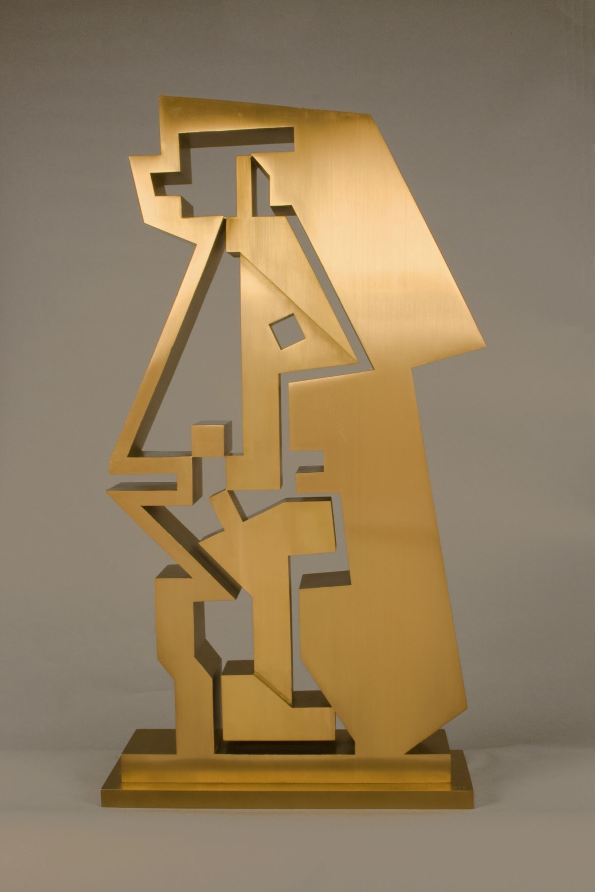 Ernest Tino Trova, Gox #3 (SOLD), 1976, bronze with gold patina, 37 x 26 x 6 inches