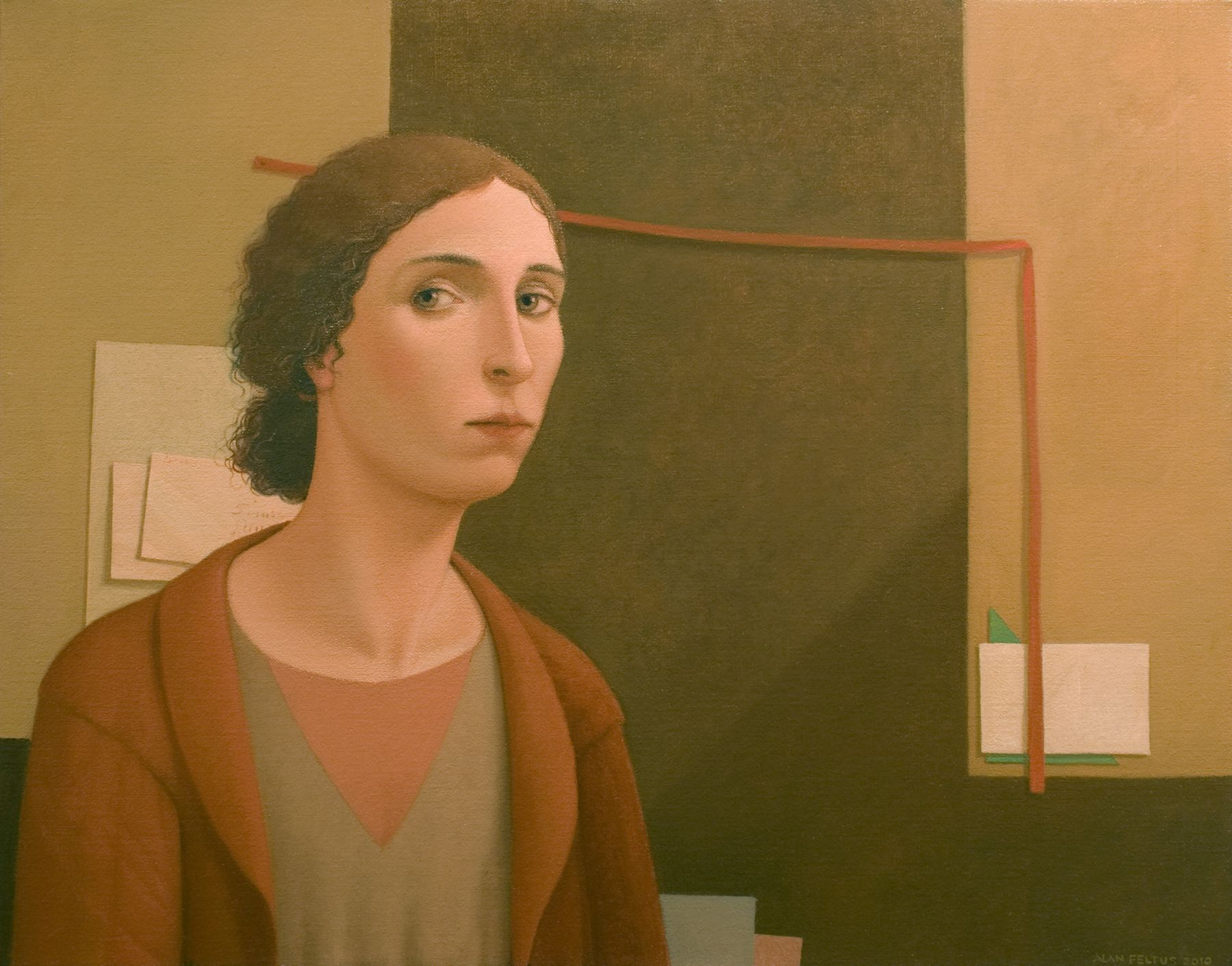 Alan Feltus, Minku's Inescapable Space, 2010, oil on linen, 22 7/8 x 28 7/8 inches