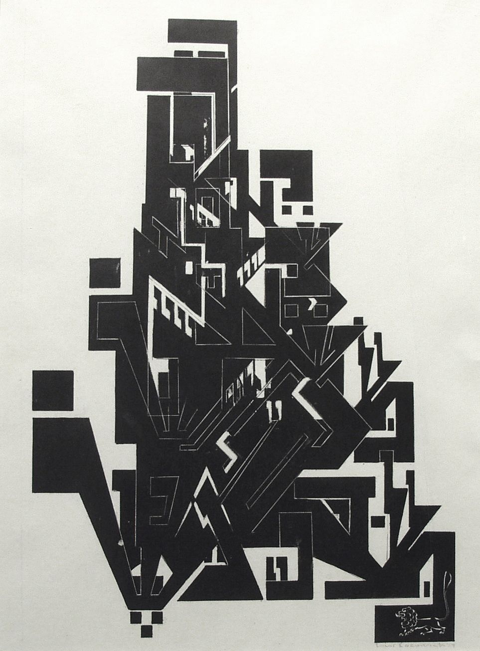 Louis Lozowick, Hebraica, 1959, lithograph, 14 7/8 x 10 7/8 inches (image size), 22 3/4 x 18 3/4 inches (frame size), Edition of 20