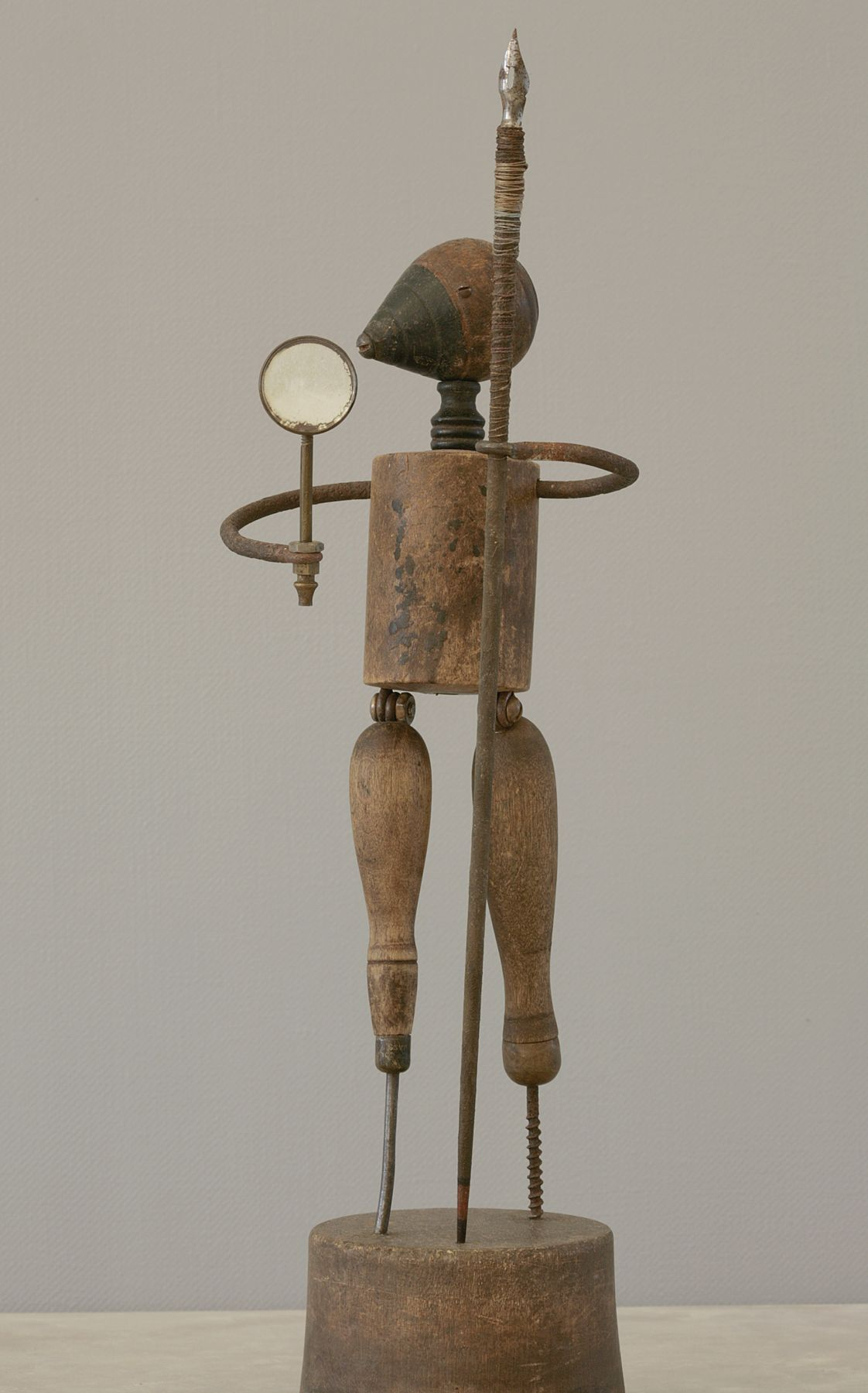 Alan Magee, Improbable Monument, 2009, mixed media, 14.75 x 5 x 5.5 inches