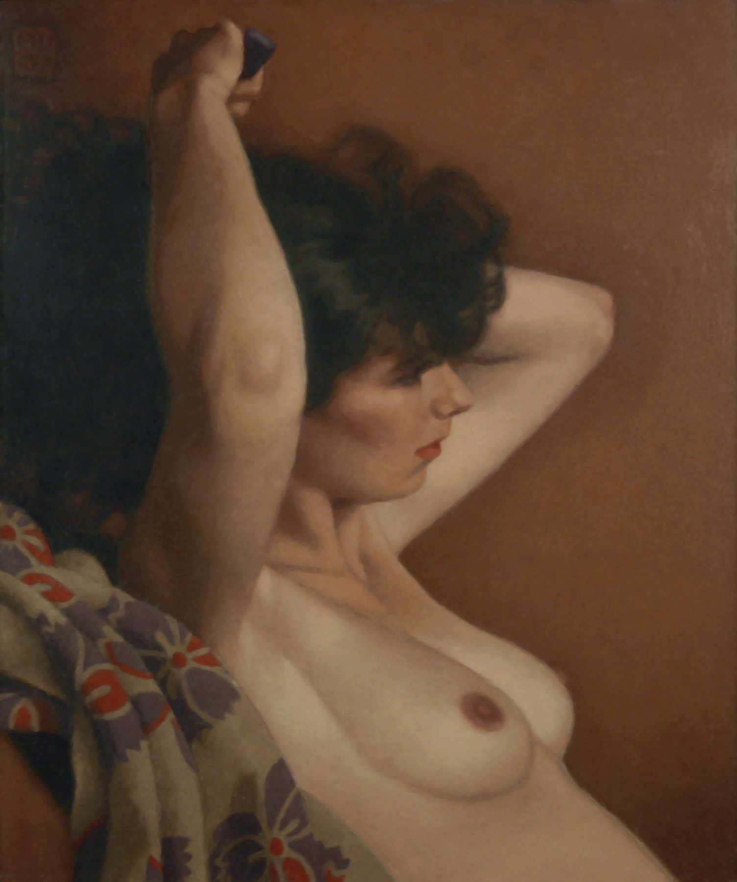 Michael Leonard, Cloud of Dark Hair, 2007, alkyd-oil on masonite, 19 x 16 inches
